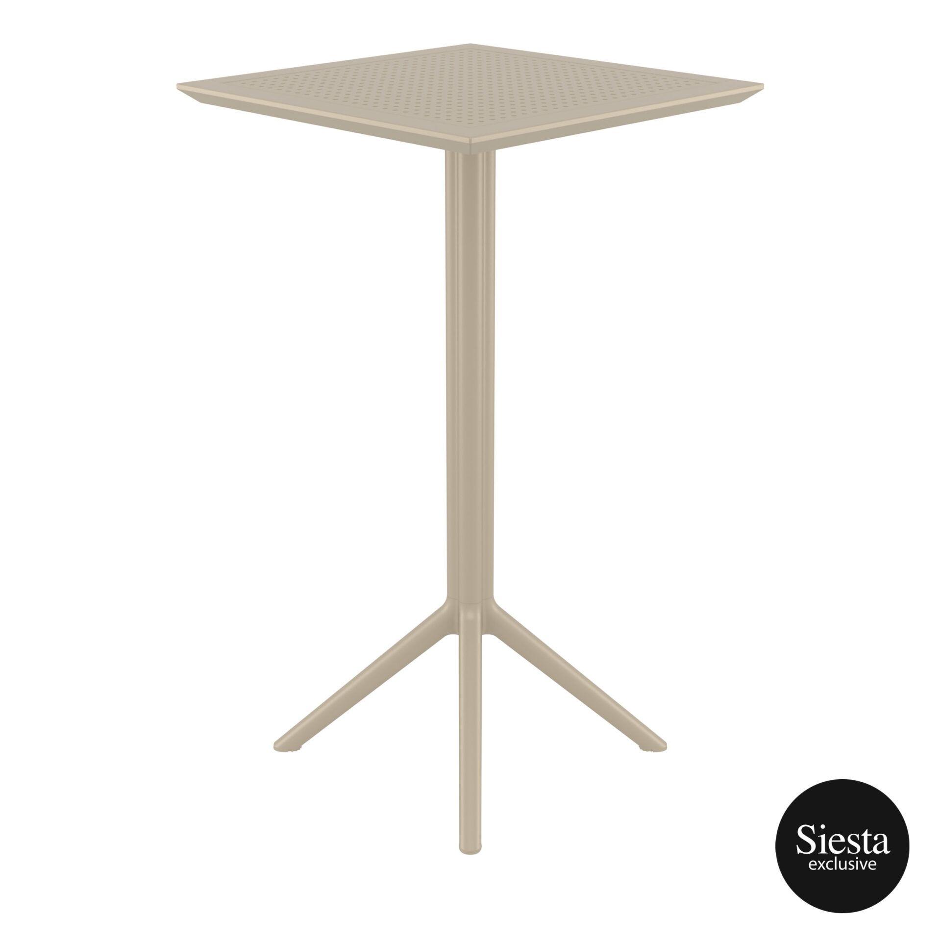 polypropylene outdoor sky folding bar table 60 taupe side 2