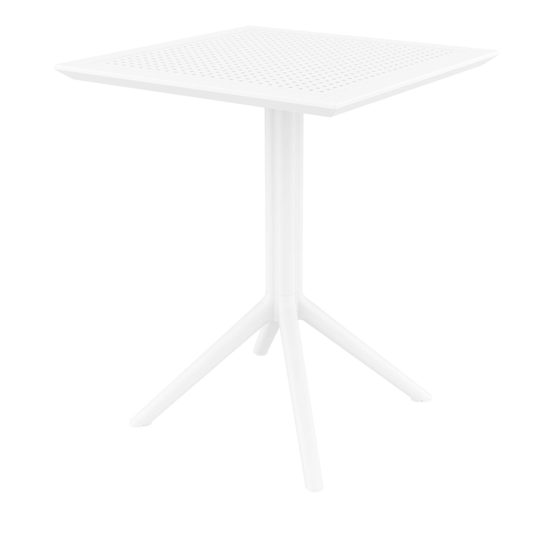 polypropylene outdoor sky folding bar table 60 white front side