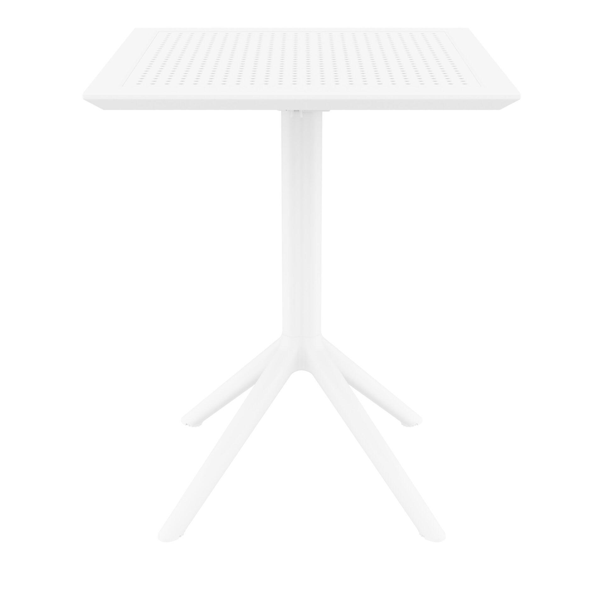 polypropylene outdoor sky folding bar table 60 white front