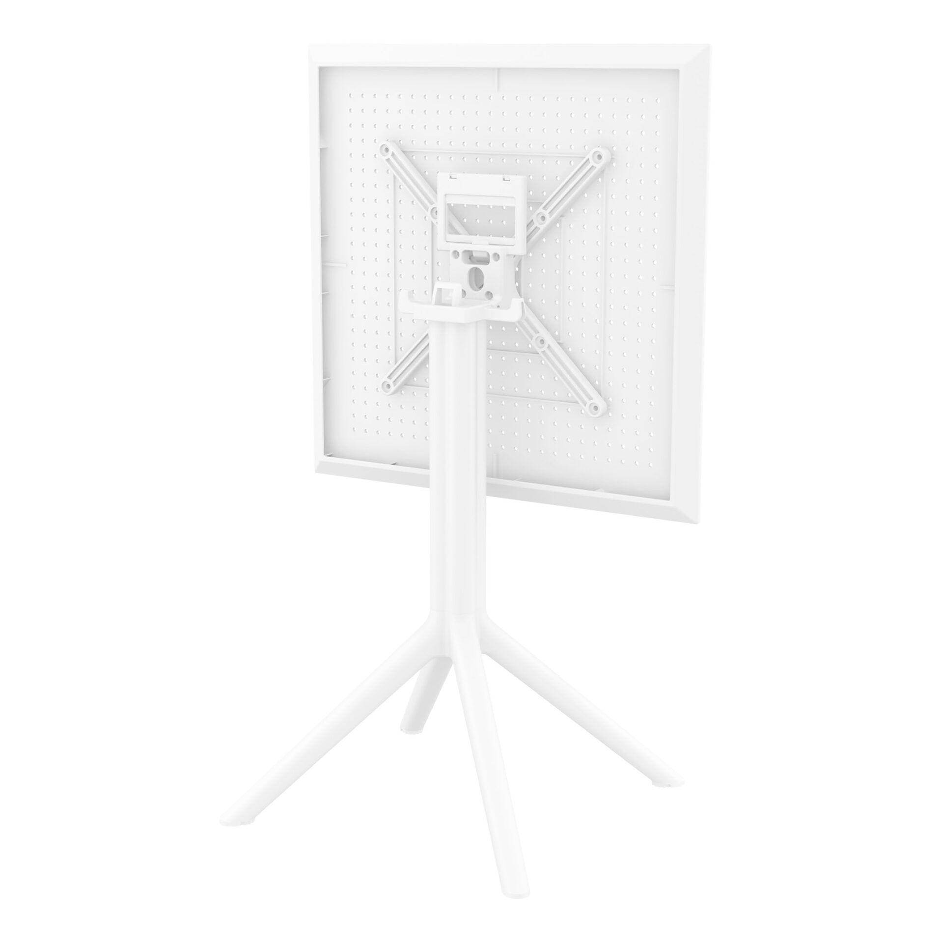 polypropylene outdoor sky folding bar table 60 white k back side