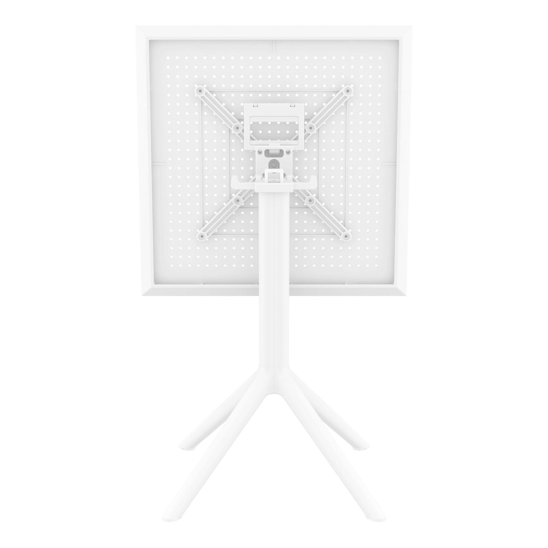 polypropylene outdoor sky folding bar table 60 white k back