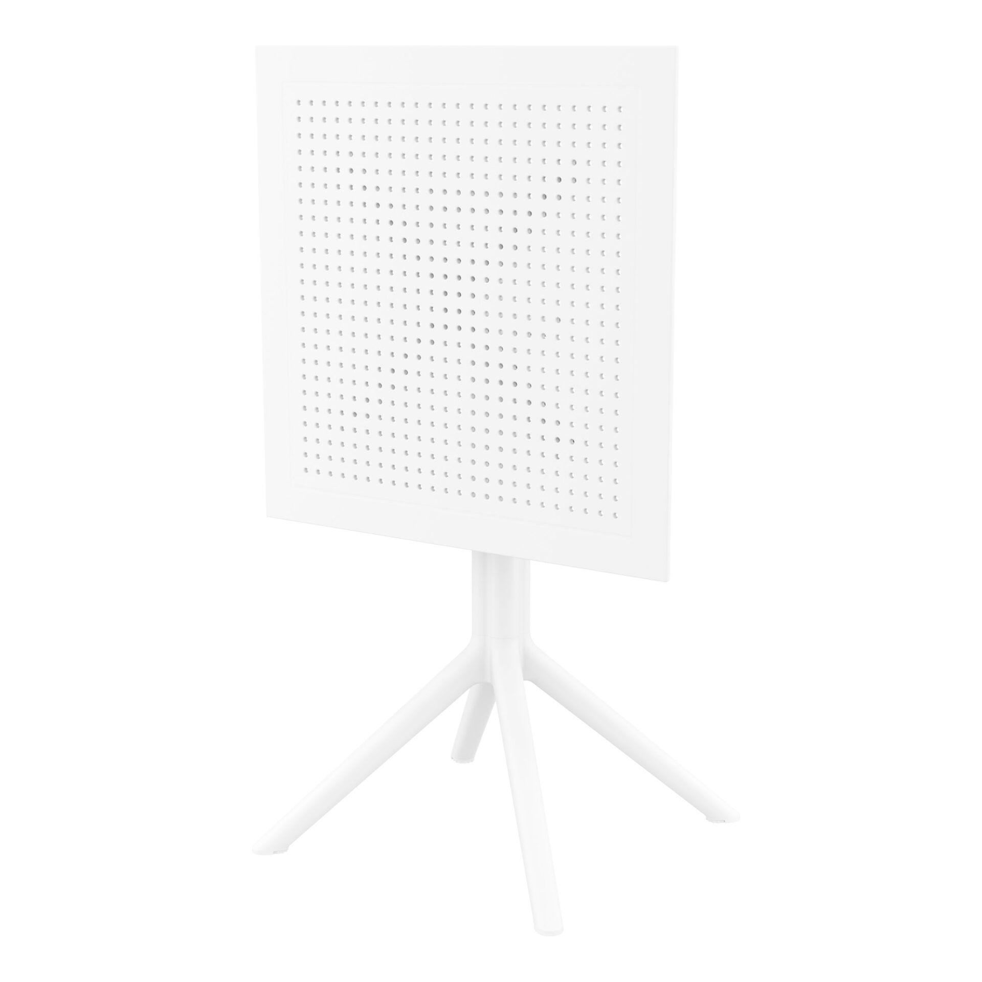 polypropylene outdoor sky folding bar table 60 white k front side