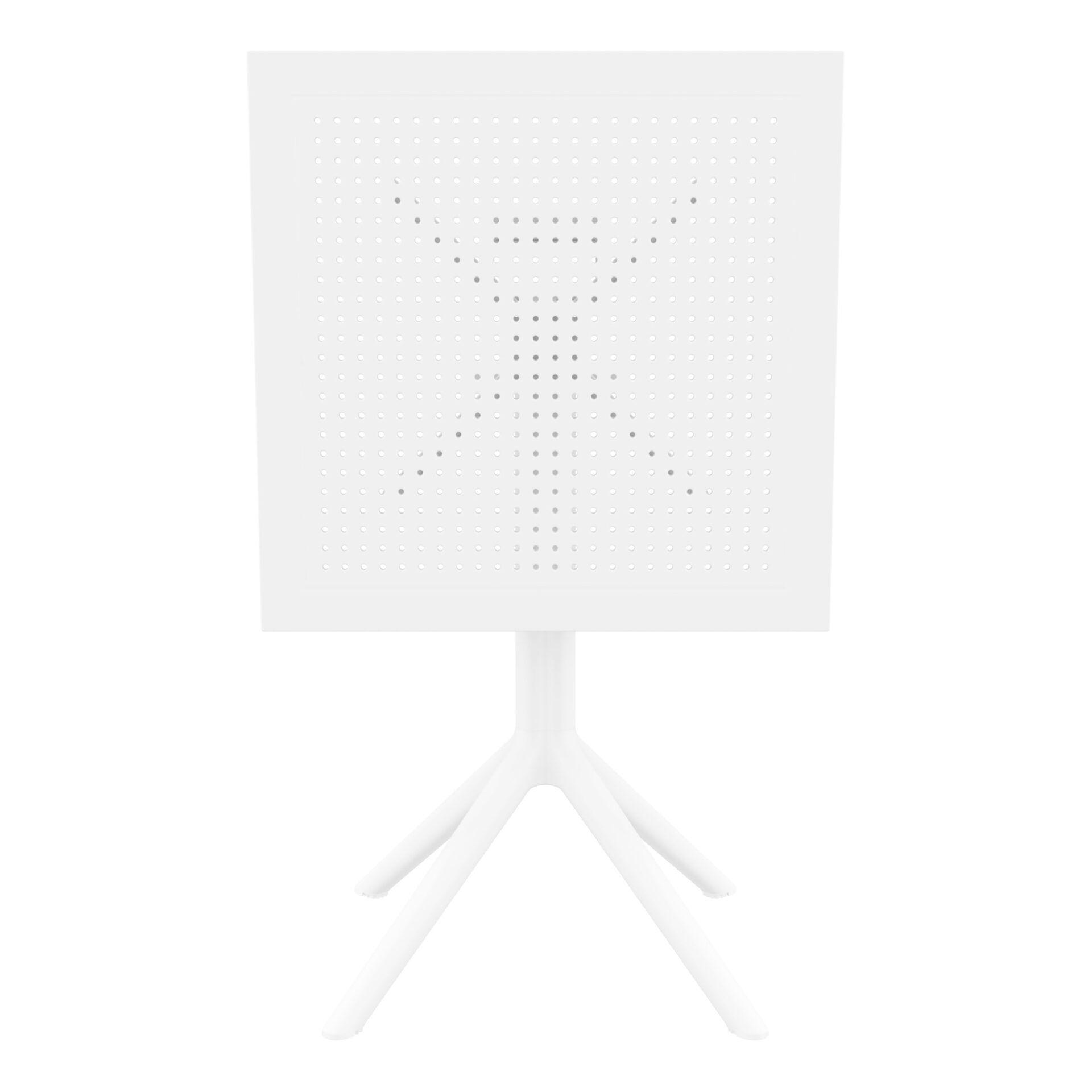 polypropylene outdoor sky folding bar table 60 white k front