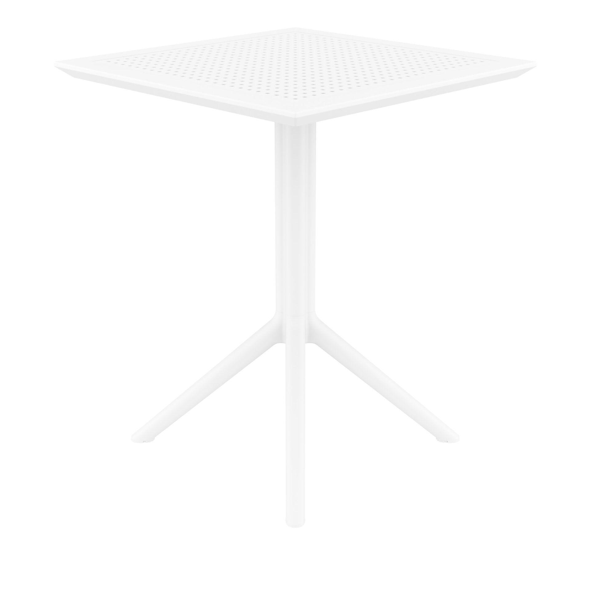 polypropylene outdoor sky folding bar table 60 white side
