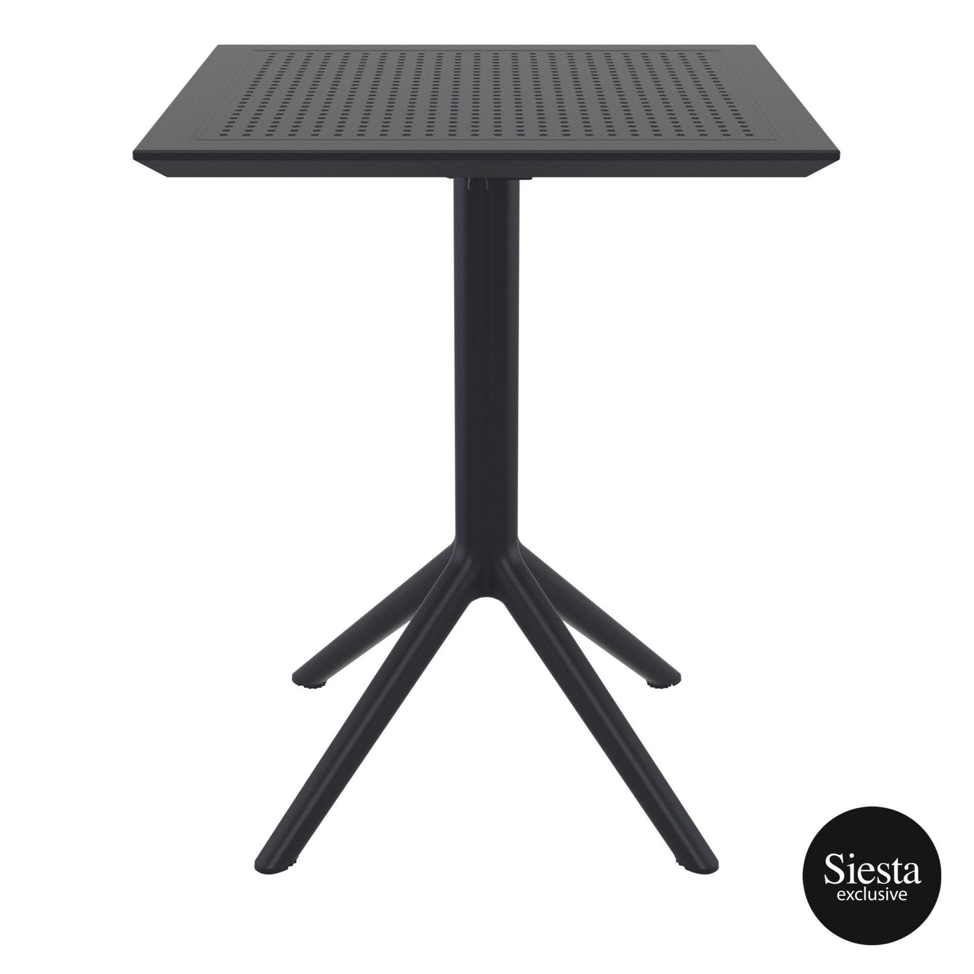 polypropylene outdoor sky folding table 60 black front