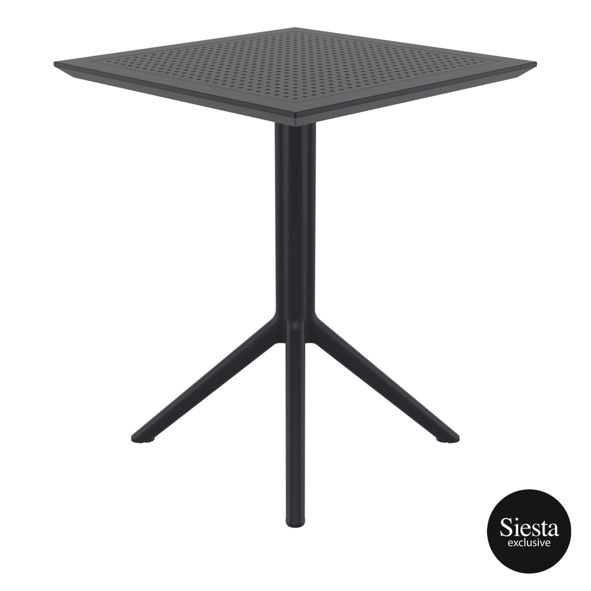 polypropylene outdoor sky folding table 60 black side