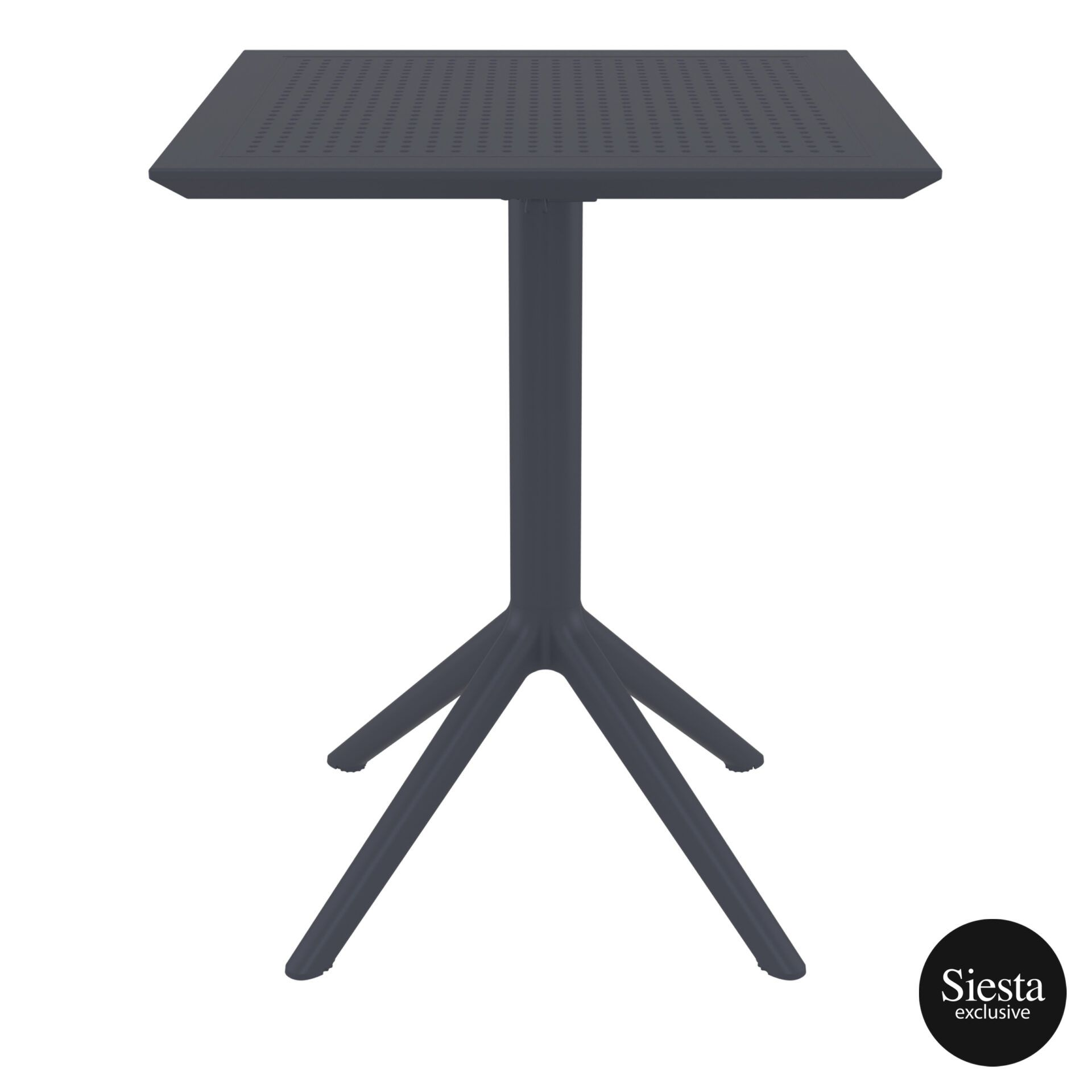 polypropylene outdoor sky folding table 60 darkgrey front 1