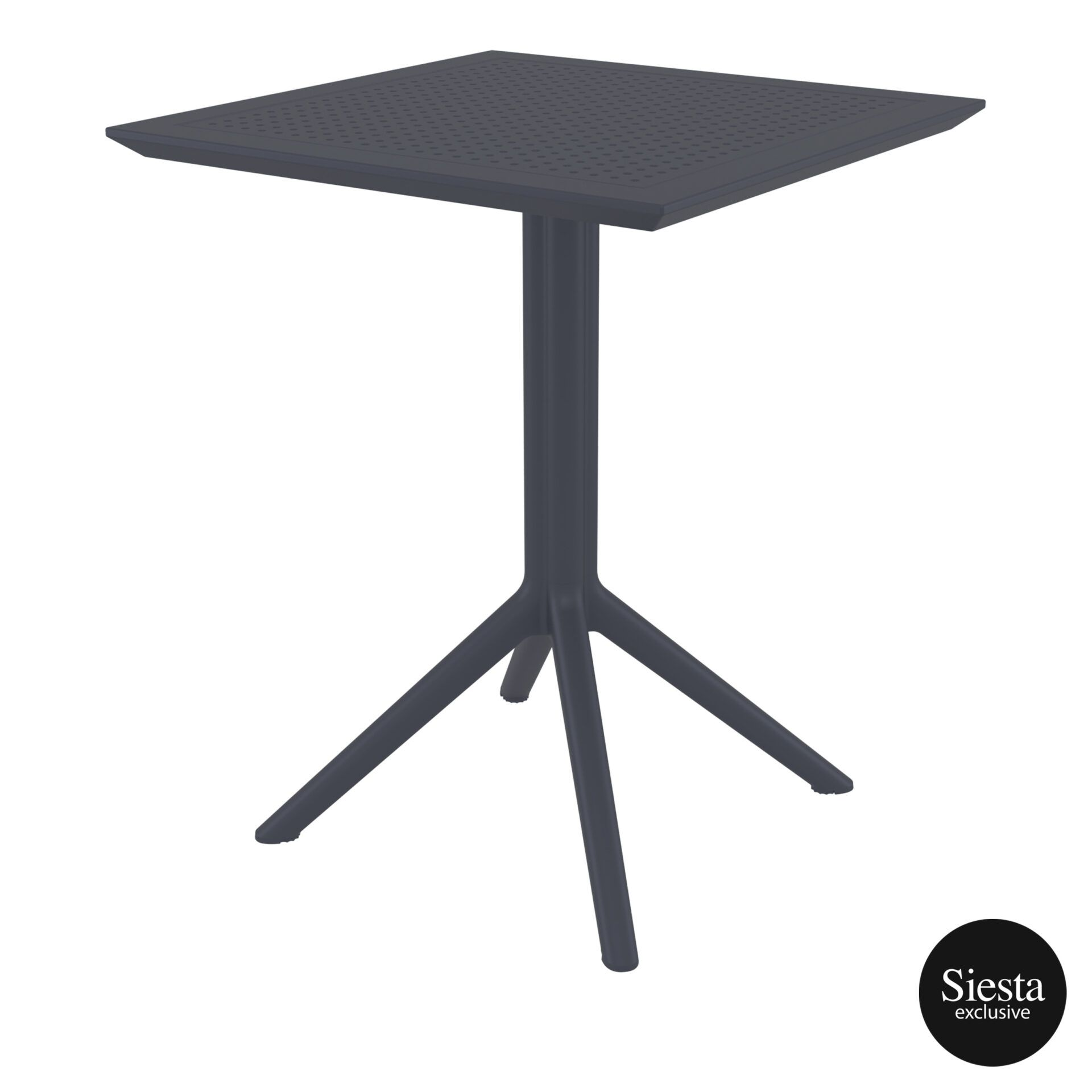 polypropylene outdoor sky folding table 60 darkgrey front side 1
