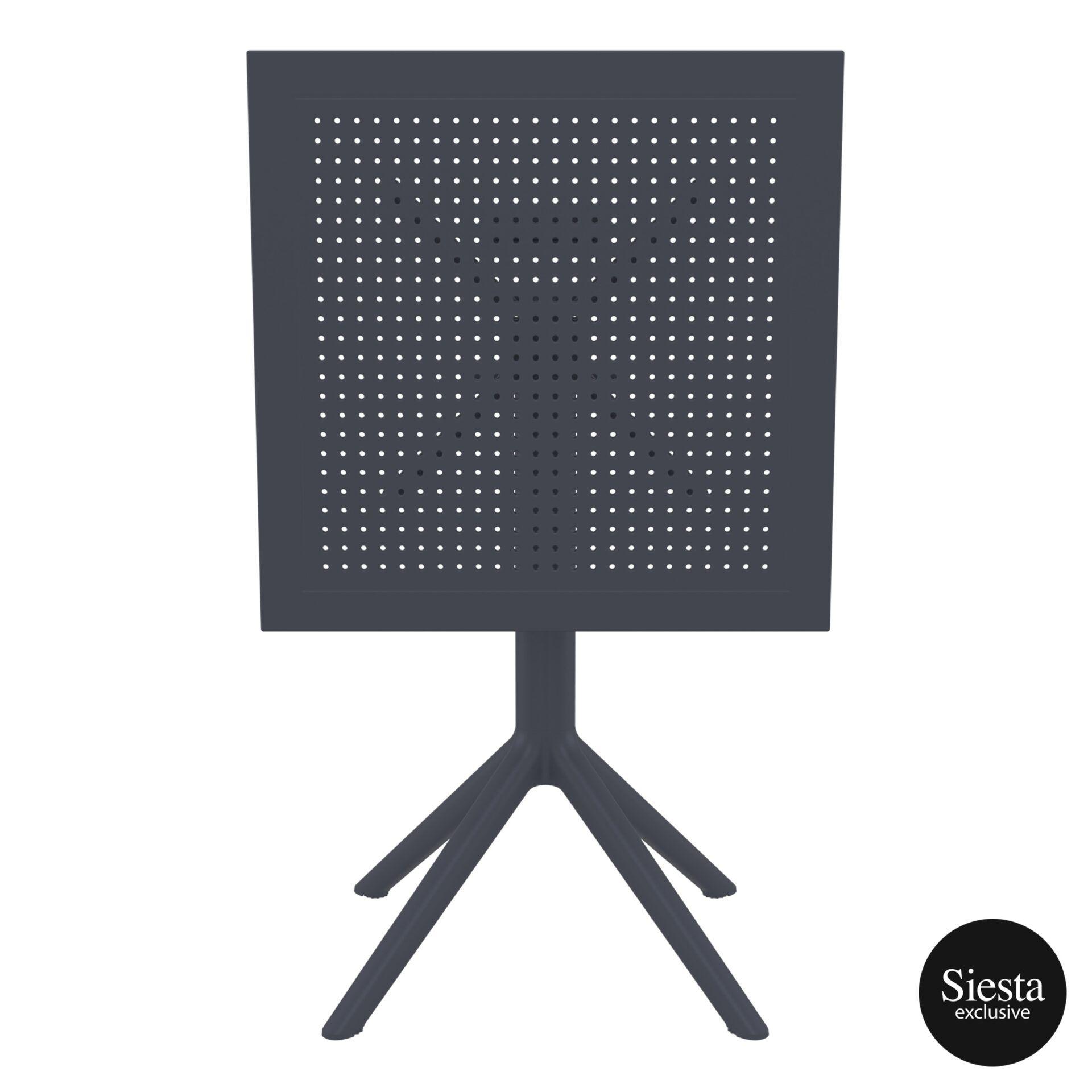 polypropylene outdoor sky folding table 60 darkgrey k front 1