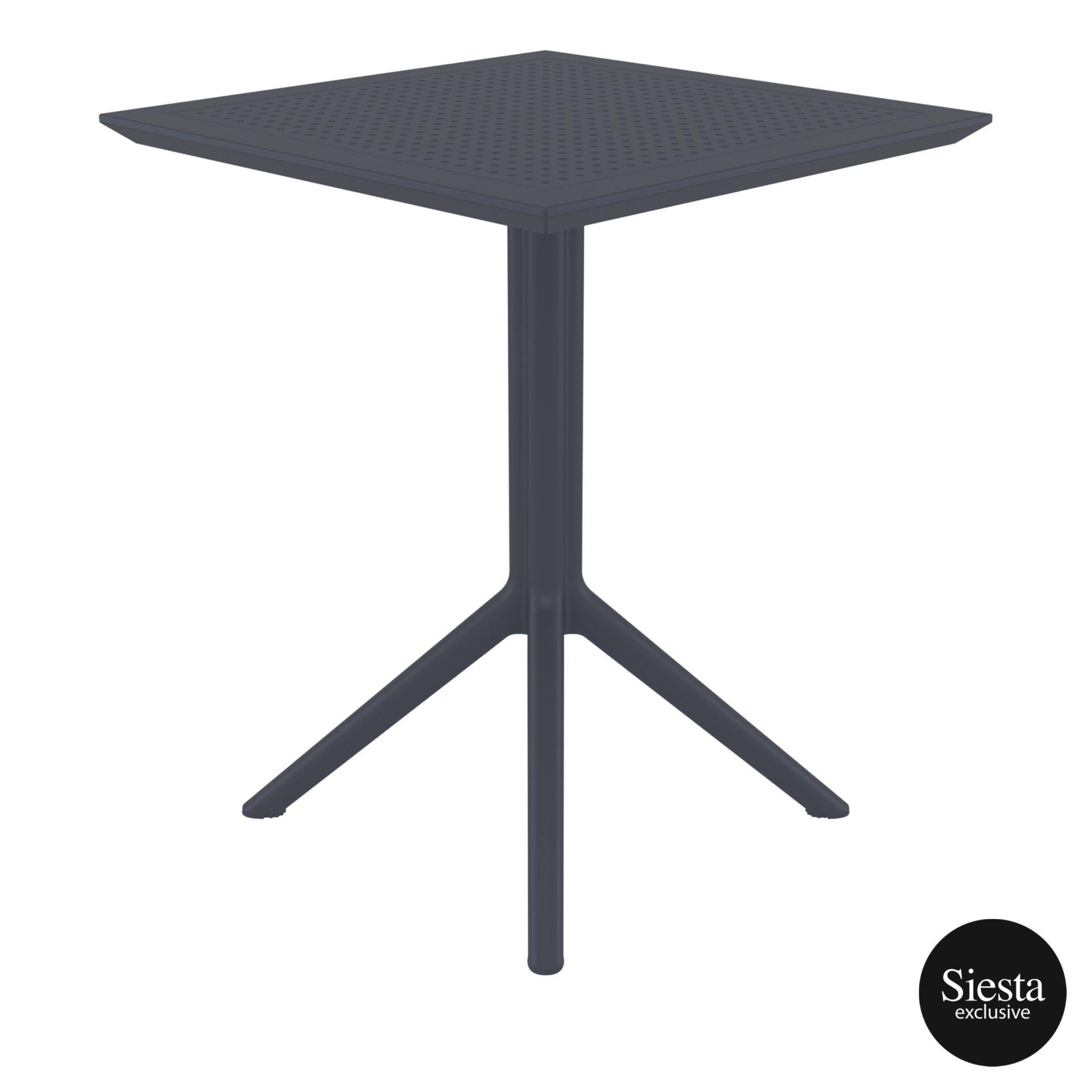 polypropylene outdoor sky folding table 60 darkgrey side 1