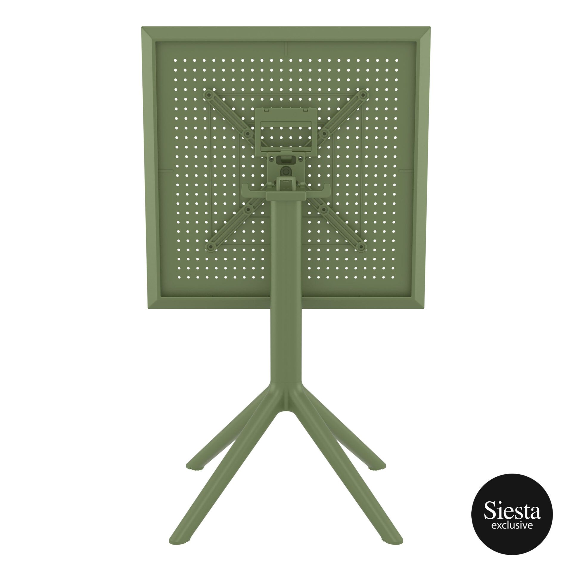 polypropylene outdoor sky folding table 60 olive green k back