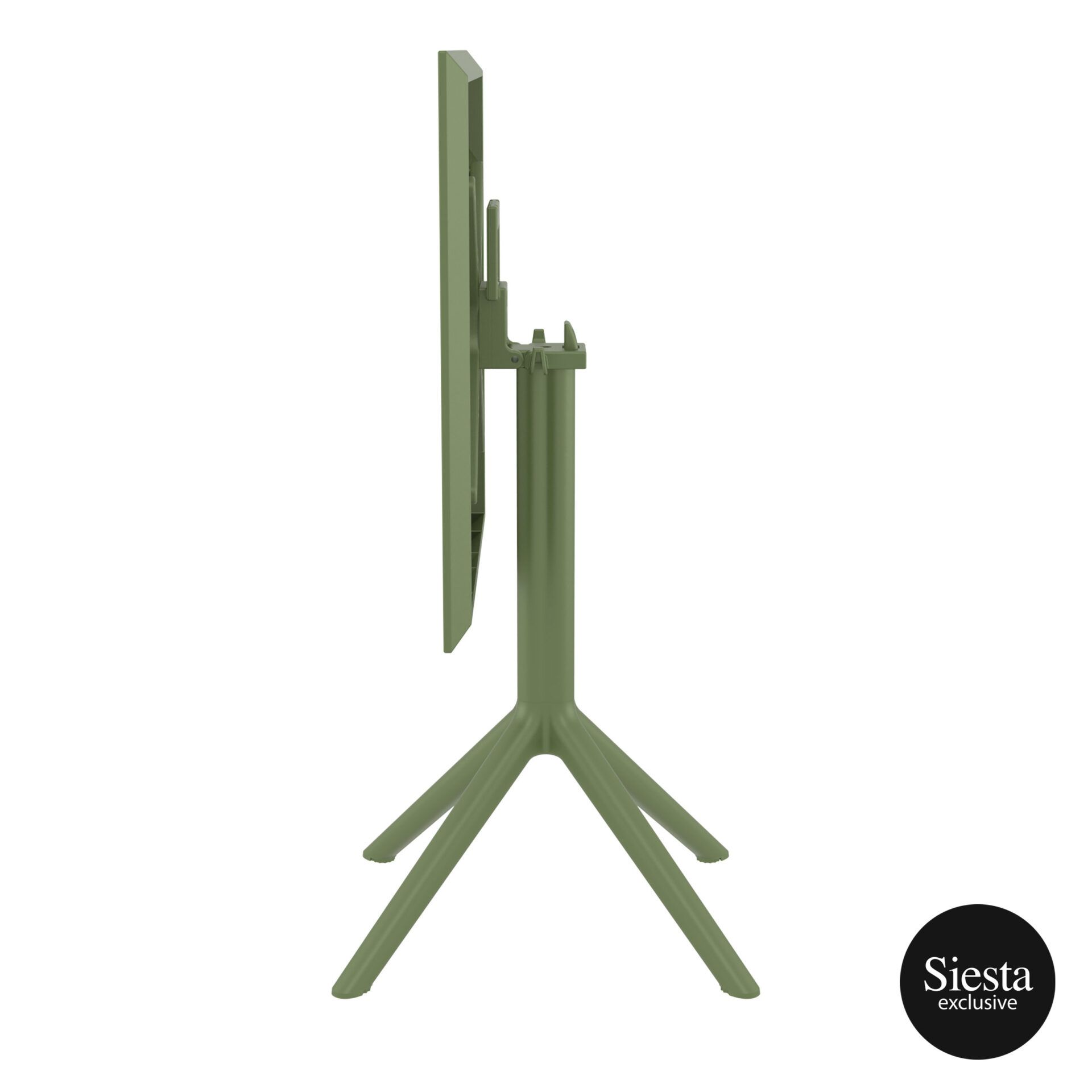polypropylene outdoor sky folding table 60 olive green k side