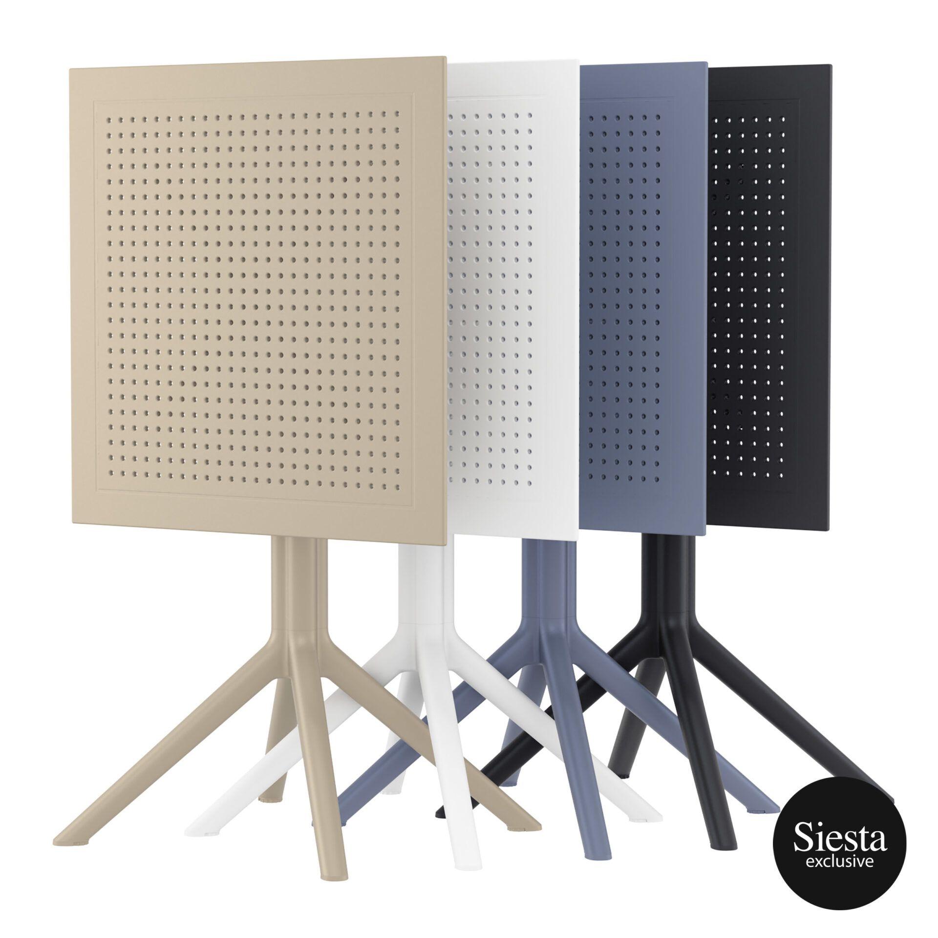 polypropylene outdoor sky folding table 60 stack