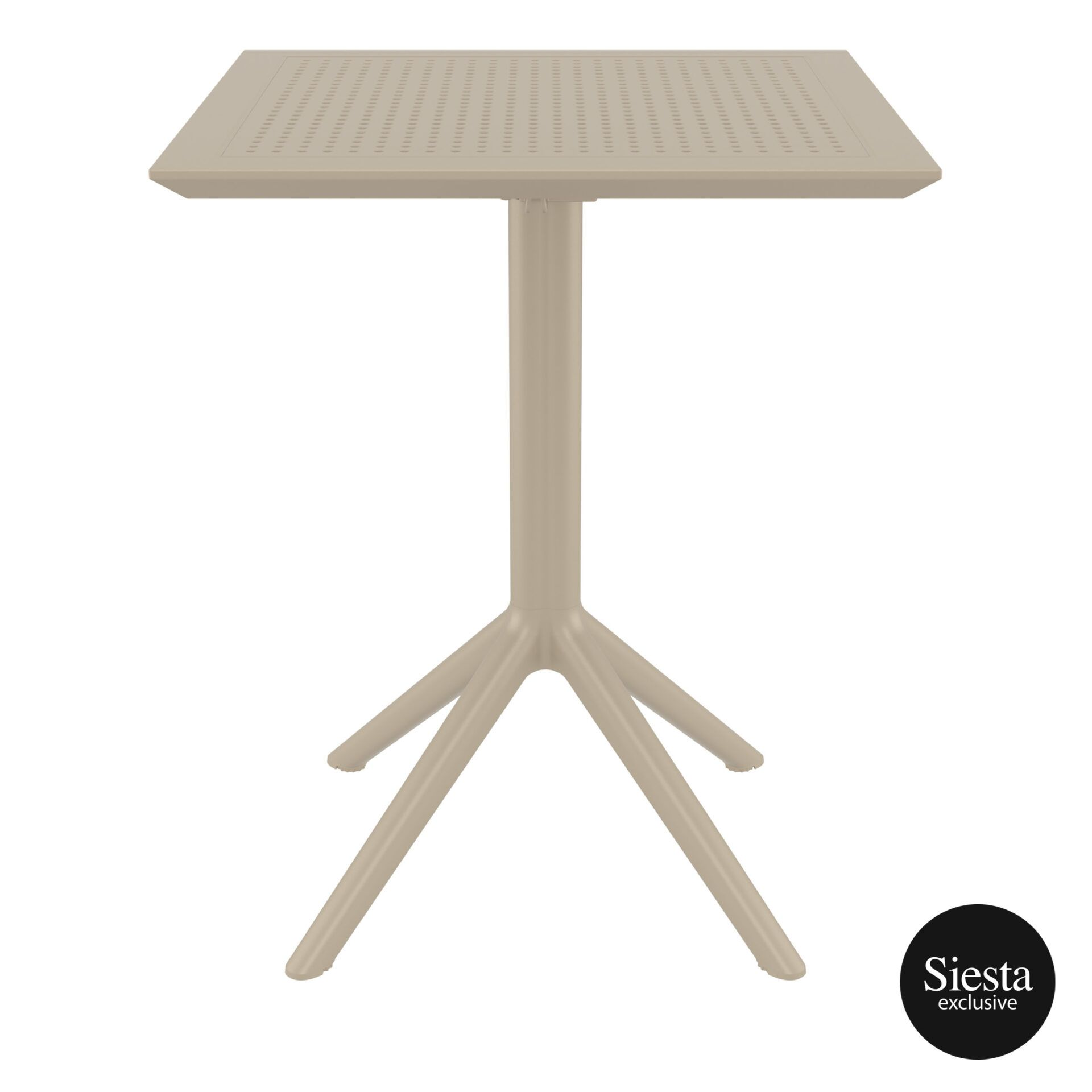 polypropylene outdoor sky folding table 60 taupe front