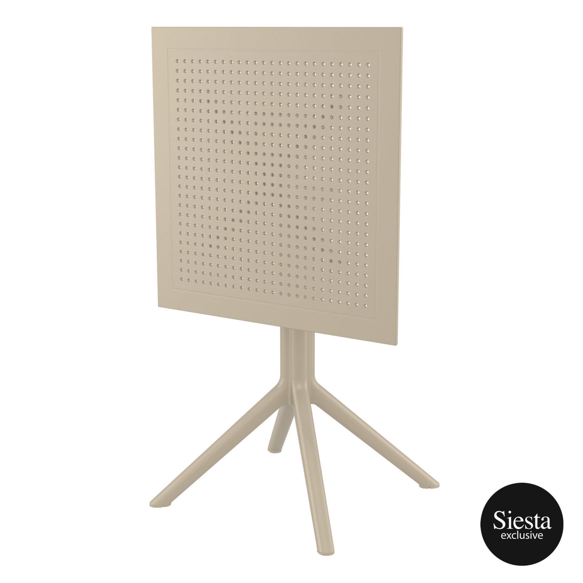 polypropylene outdoor sky folding table 60 taupe k front side