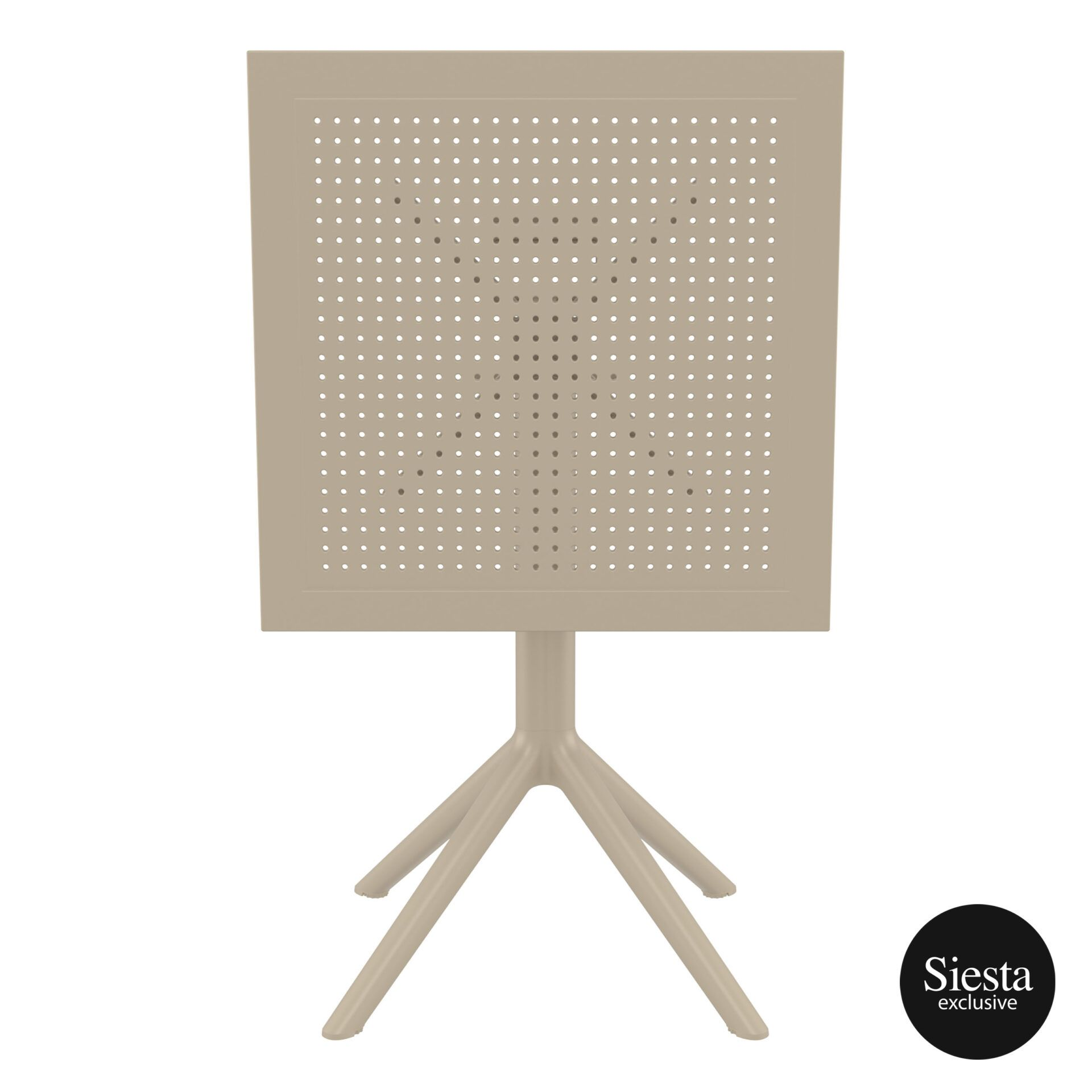polypropylene outdoor sky folding table 60 taupe k front