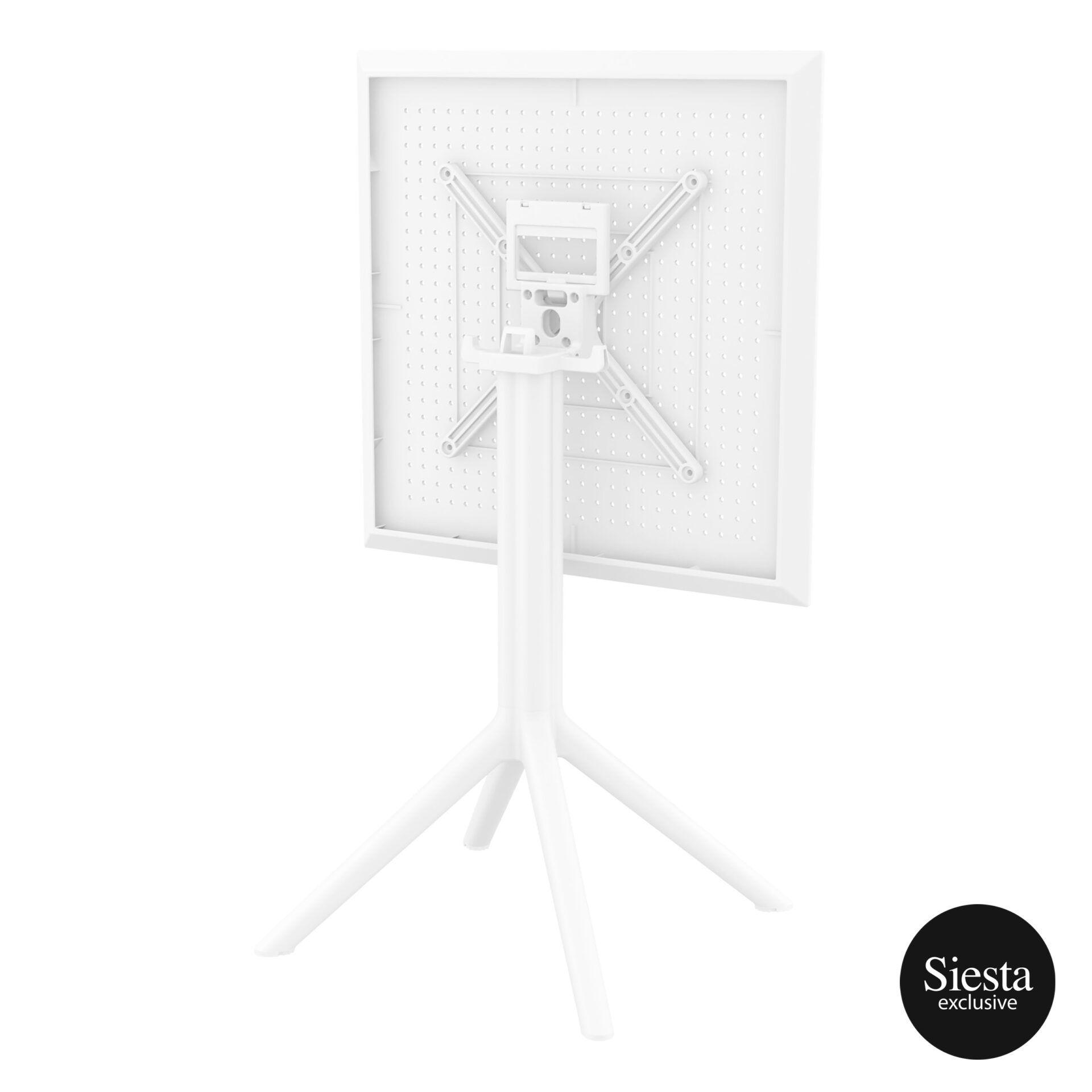 polypropylene outdoor sky folding table 60 white k back side