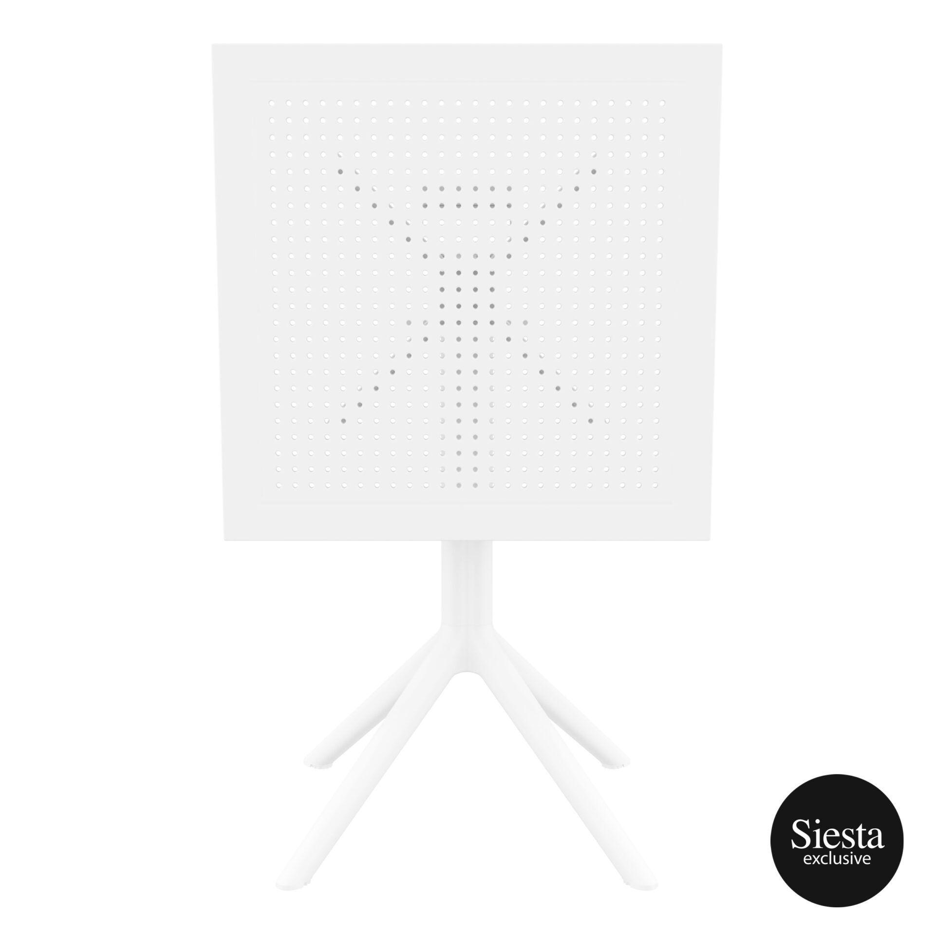 polypropylene outdoor sky folding table 60 white k front
