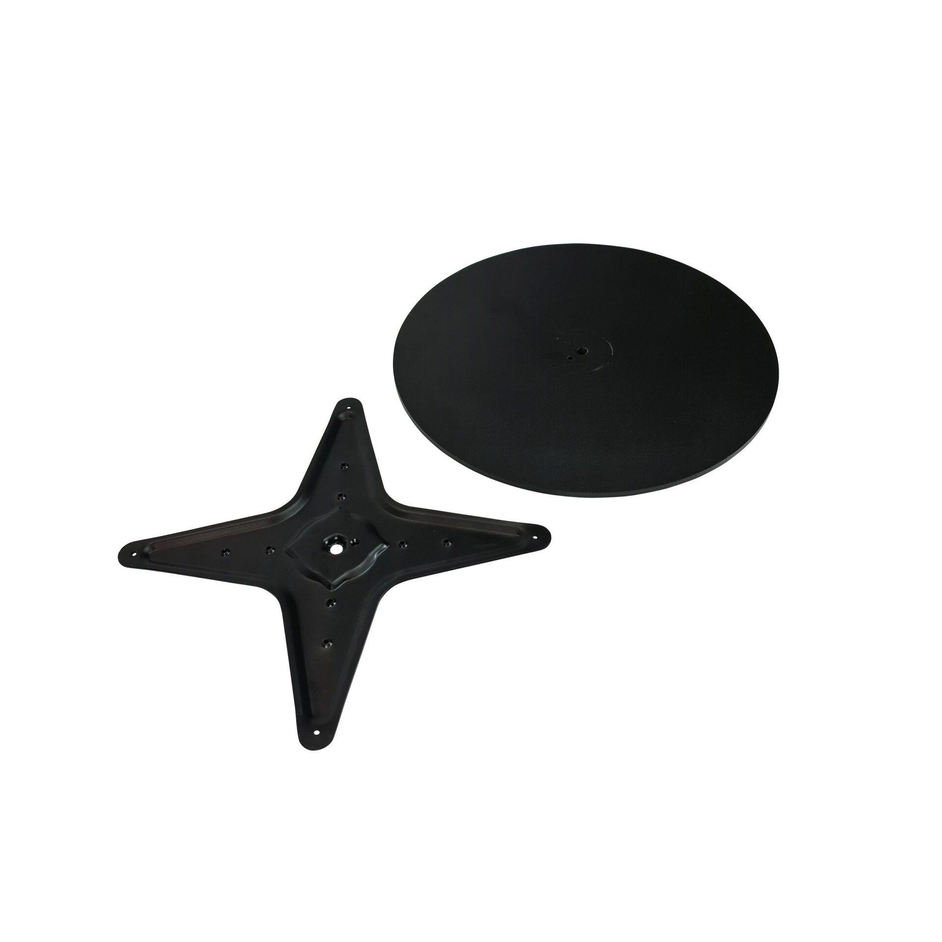 lyon table base black.star base.parts