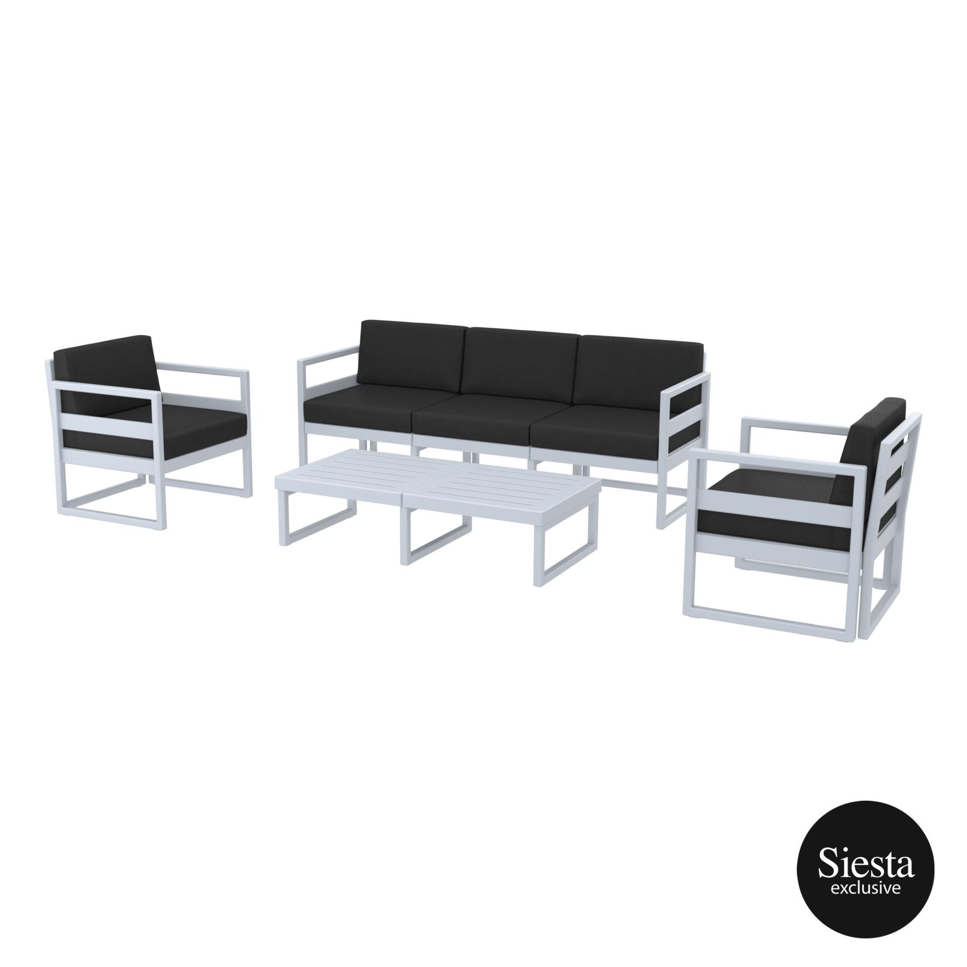 mykonos resort lounge set xl silvergrey black 1