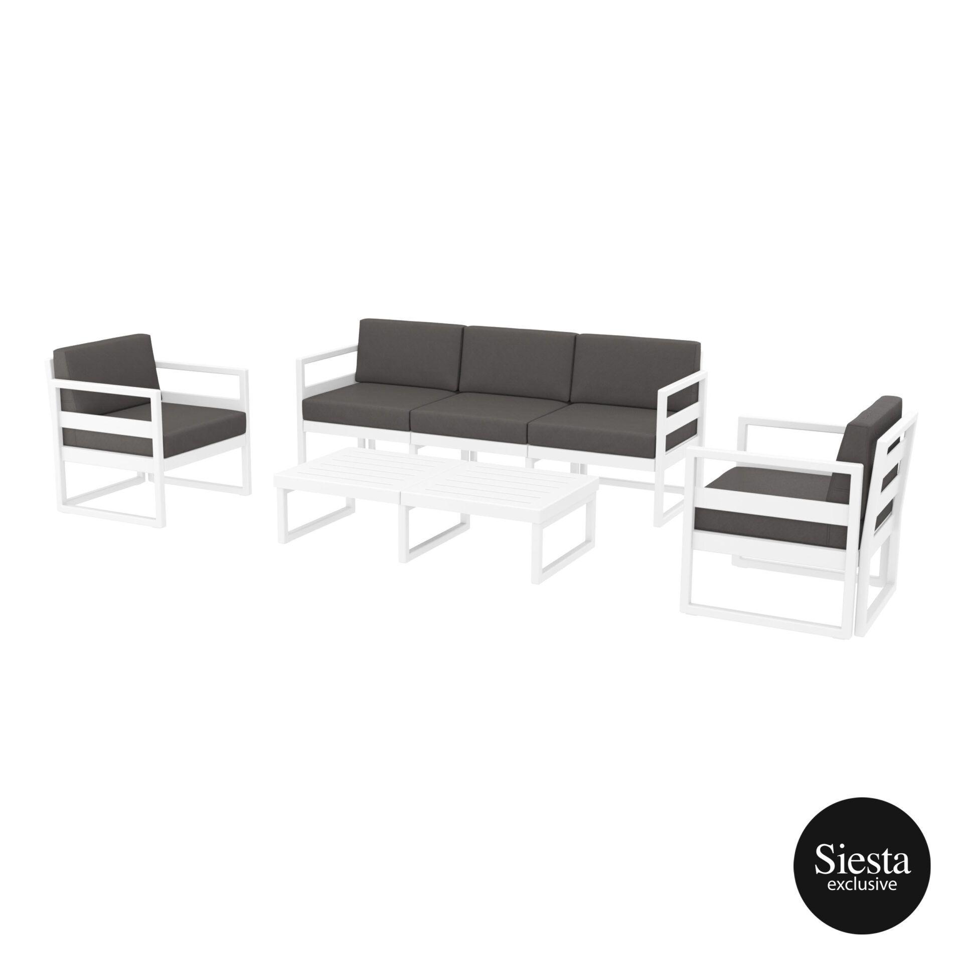 mykonos resort lounge set xl white darkgrey 1