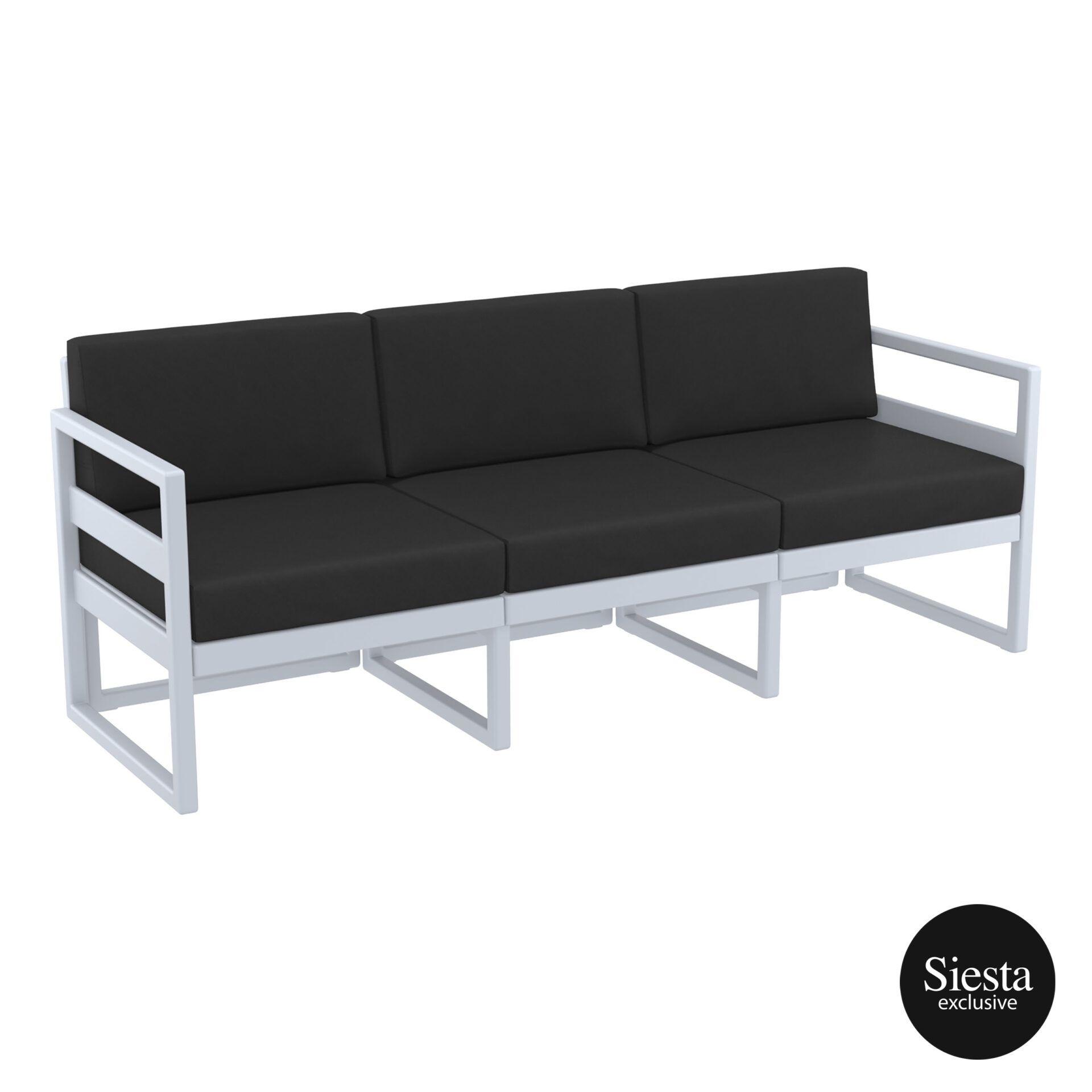 mykonos resort sofa xl silvergrey black front side 1