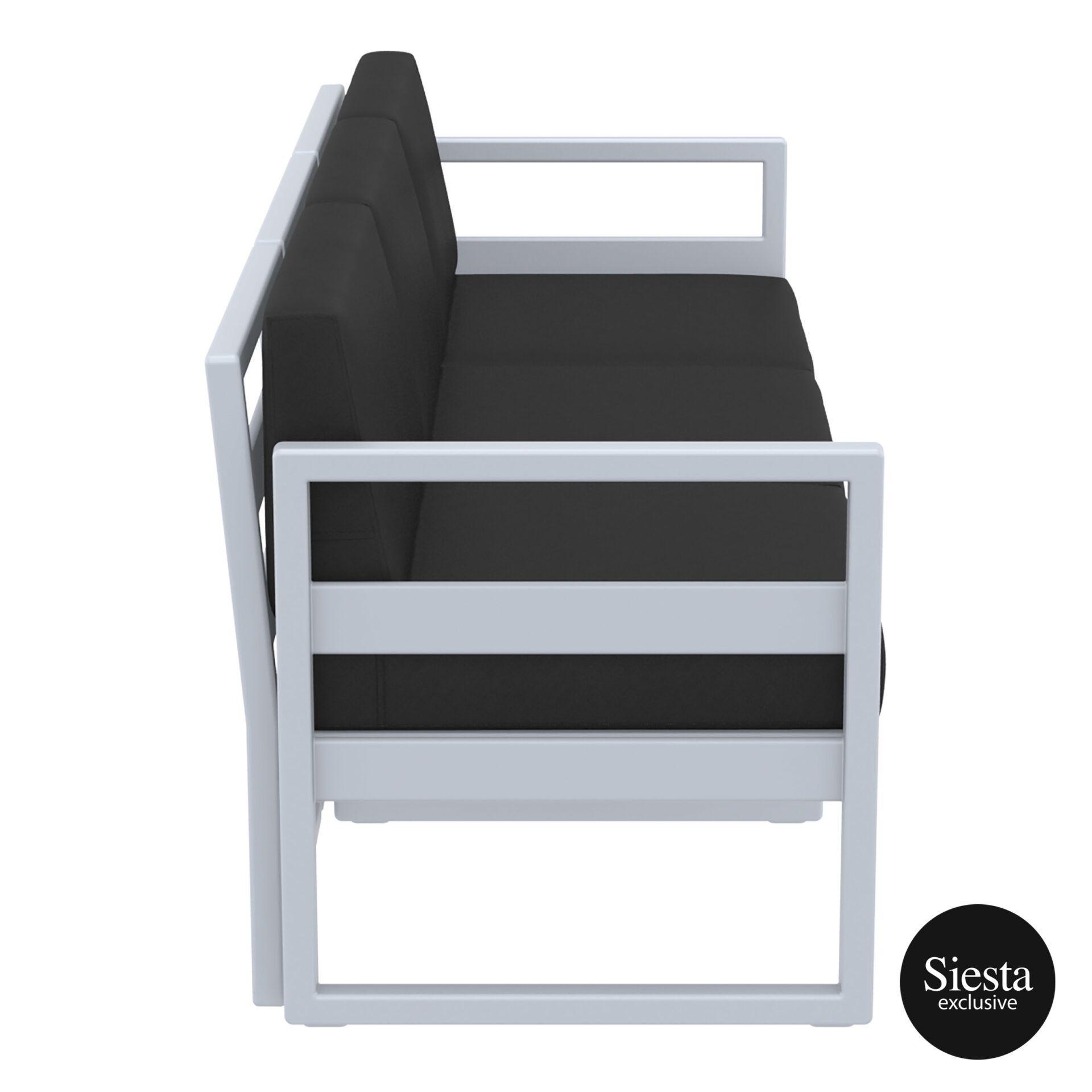 mykonos resort sofa xl silvergrey black side 1