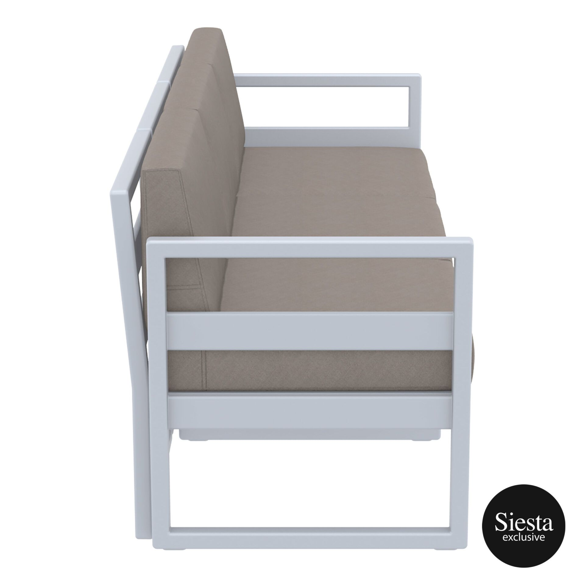 mykonos resort sofa xl silvergrey brown side 1
