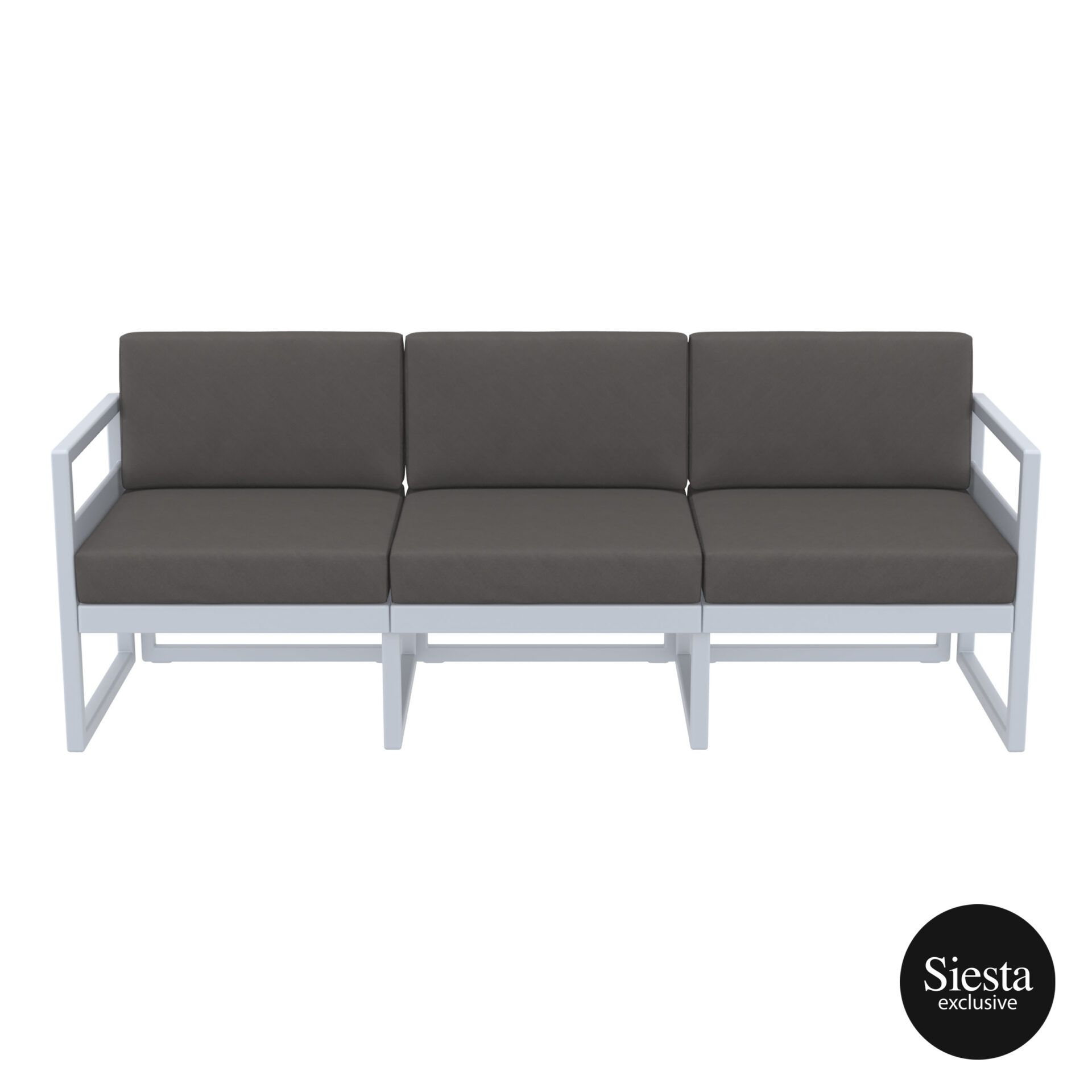 mykonos resort sofa xl silvergrey darkgrey front 1