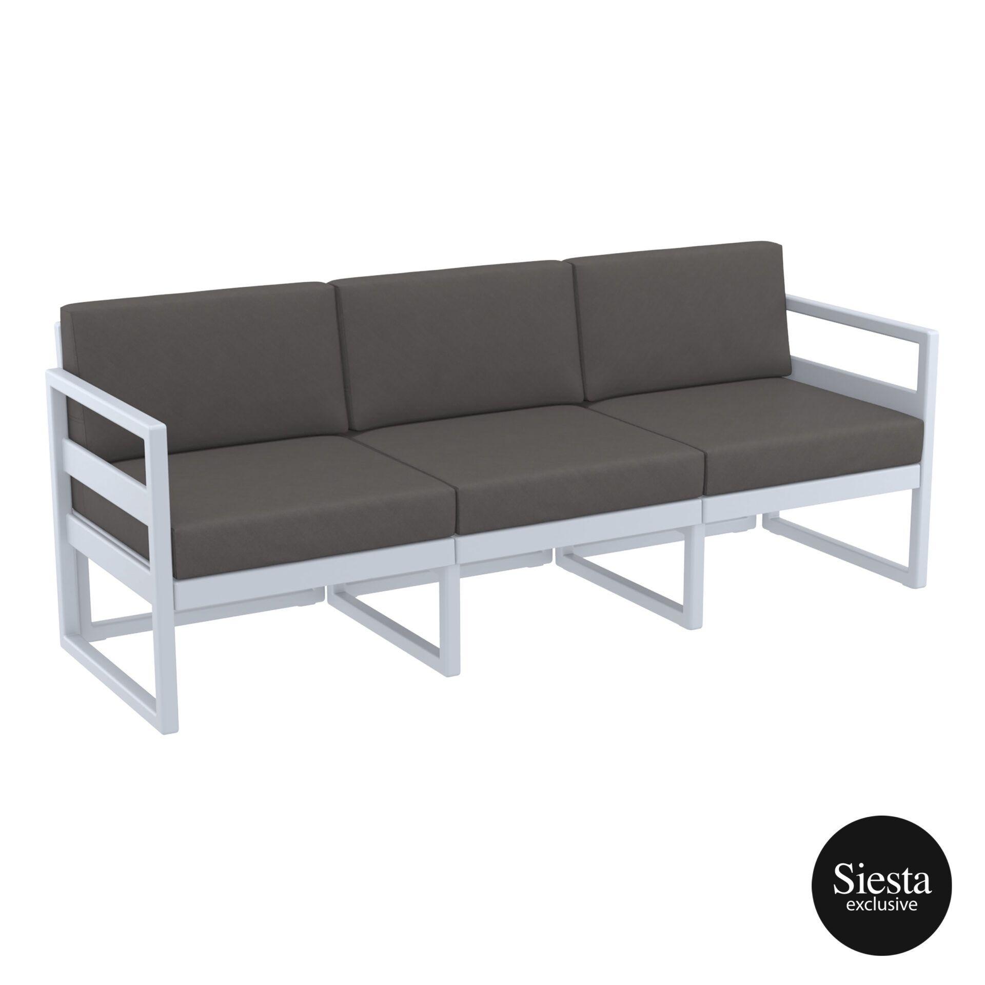 mykonos resort sofa xl silvergrey darkgrey front side 1