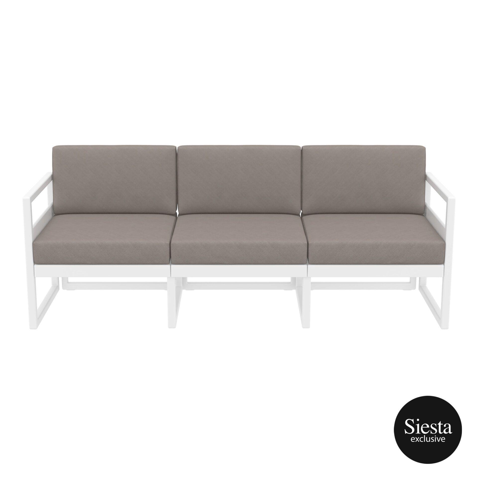 mykonos resort sofa xl white brown front
