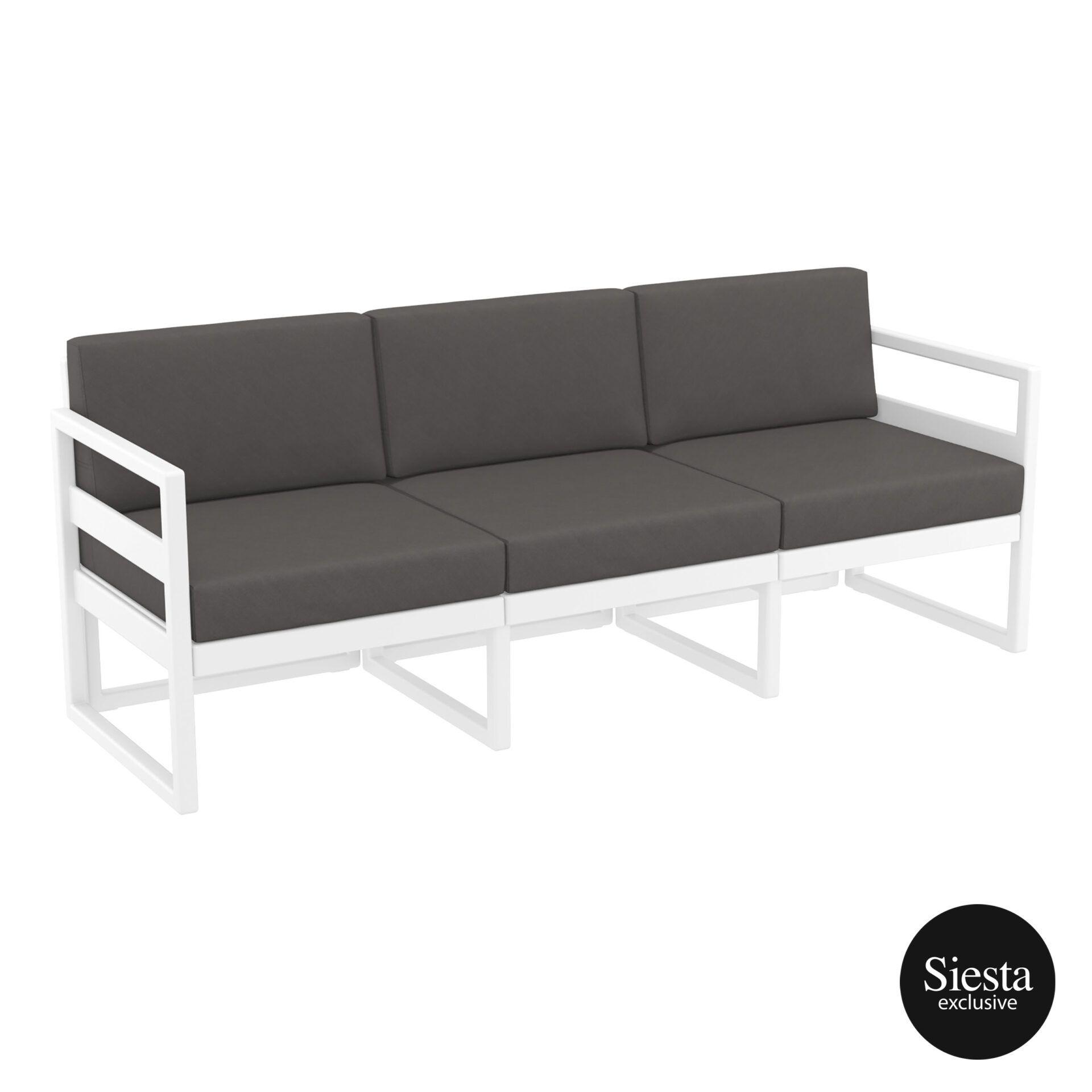 mykonos resort sofa xl white darkgrey front side 1