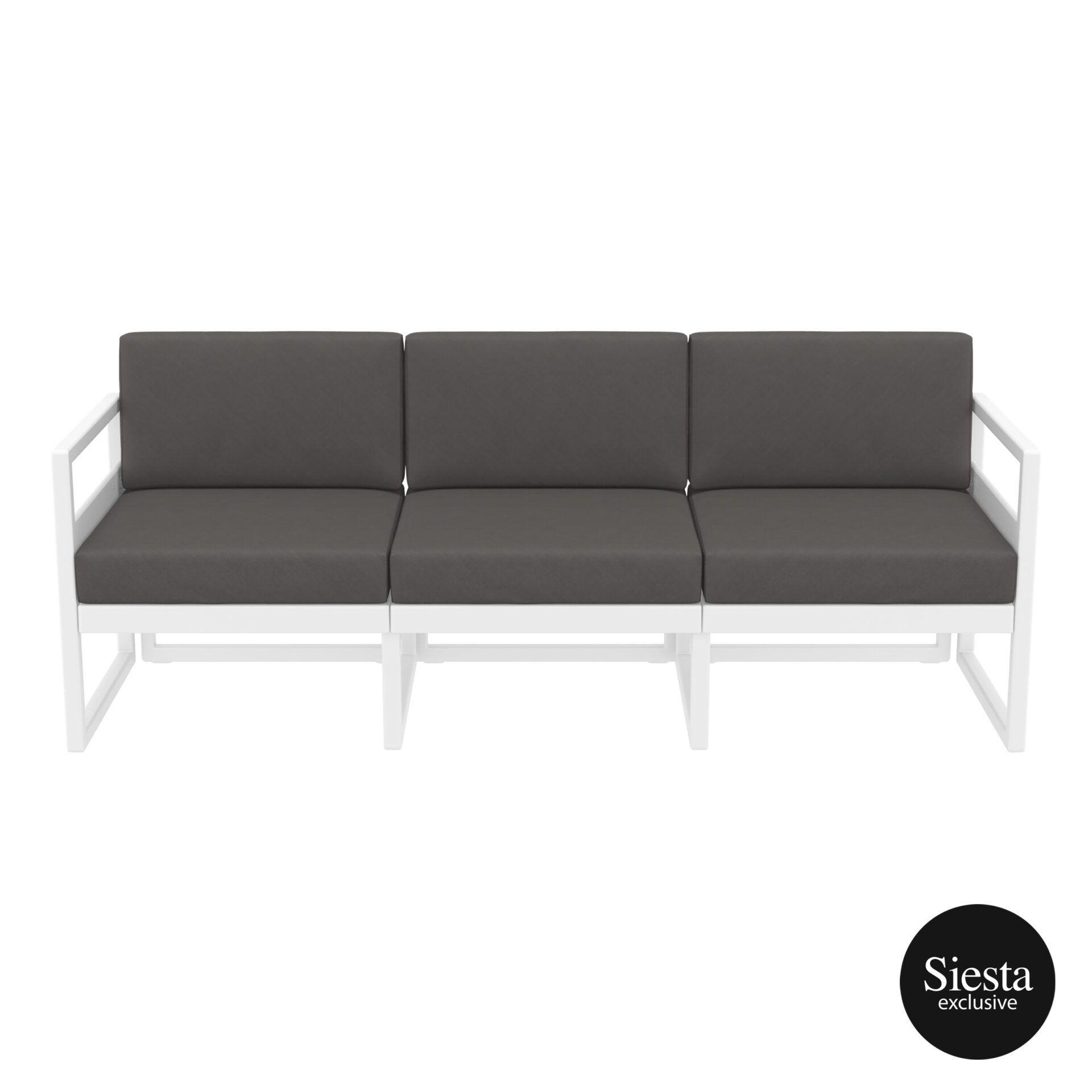 mykonos resort sofa xl white darkgrey front
