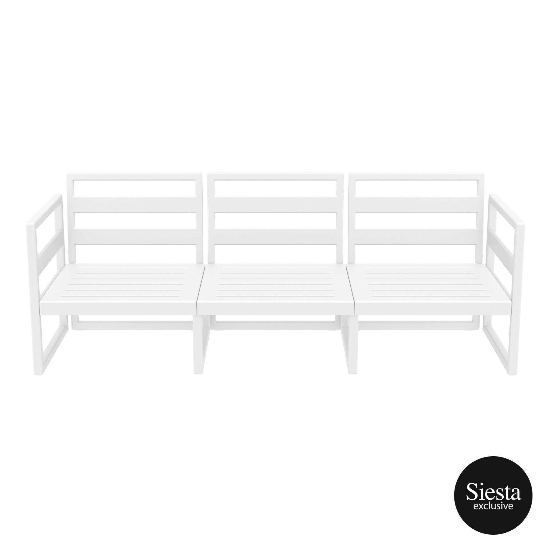 mykonos resort sofa xl white front