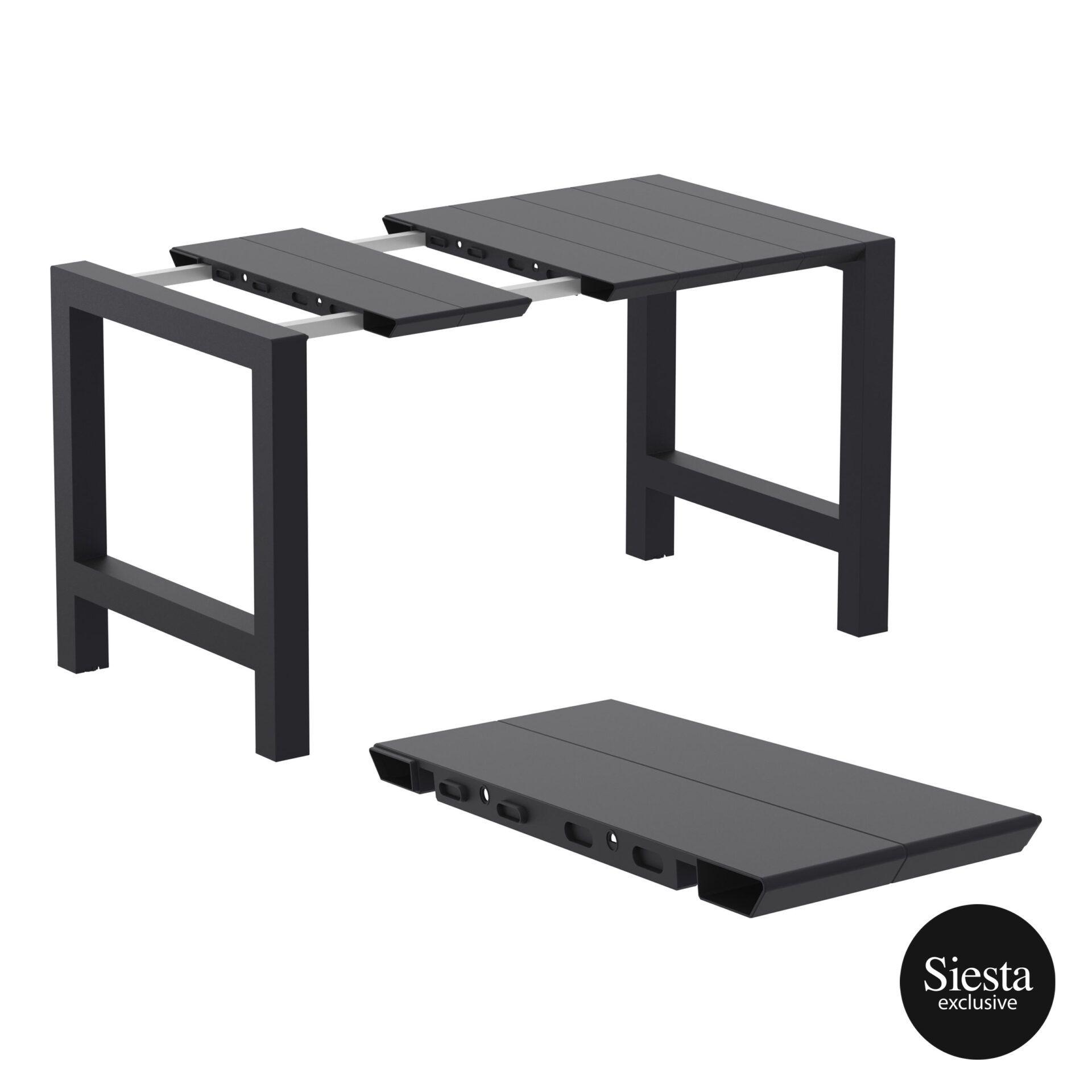 001 vegas bar table 140 black extension part