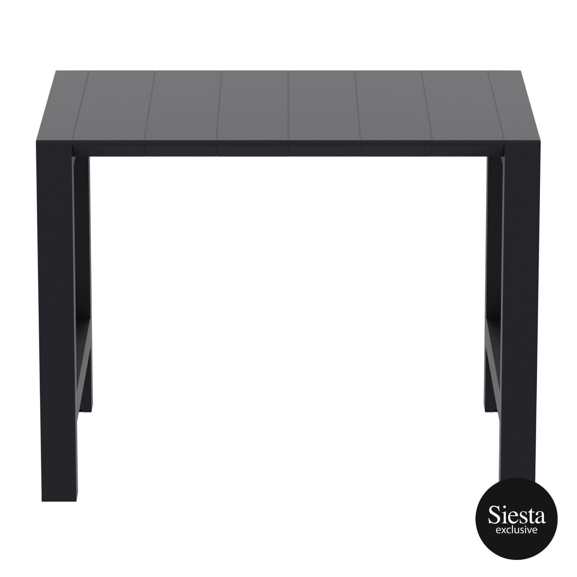 003 vegas bar table 140 black long edge