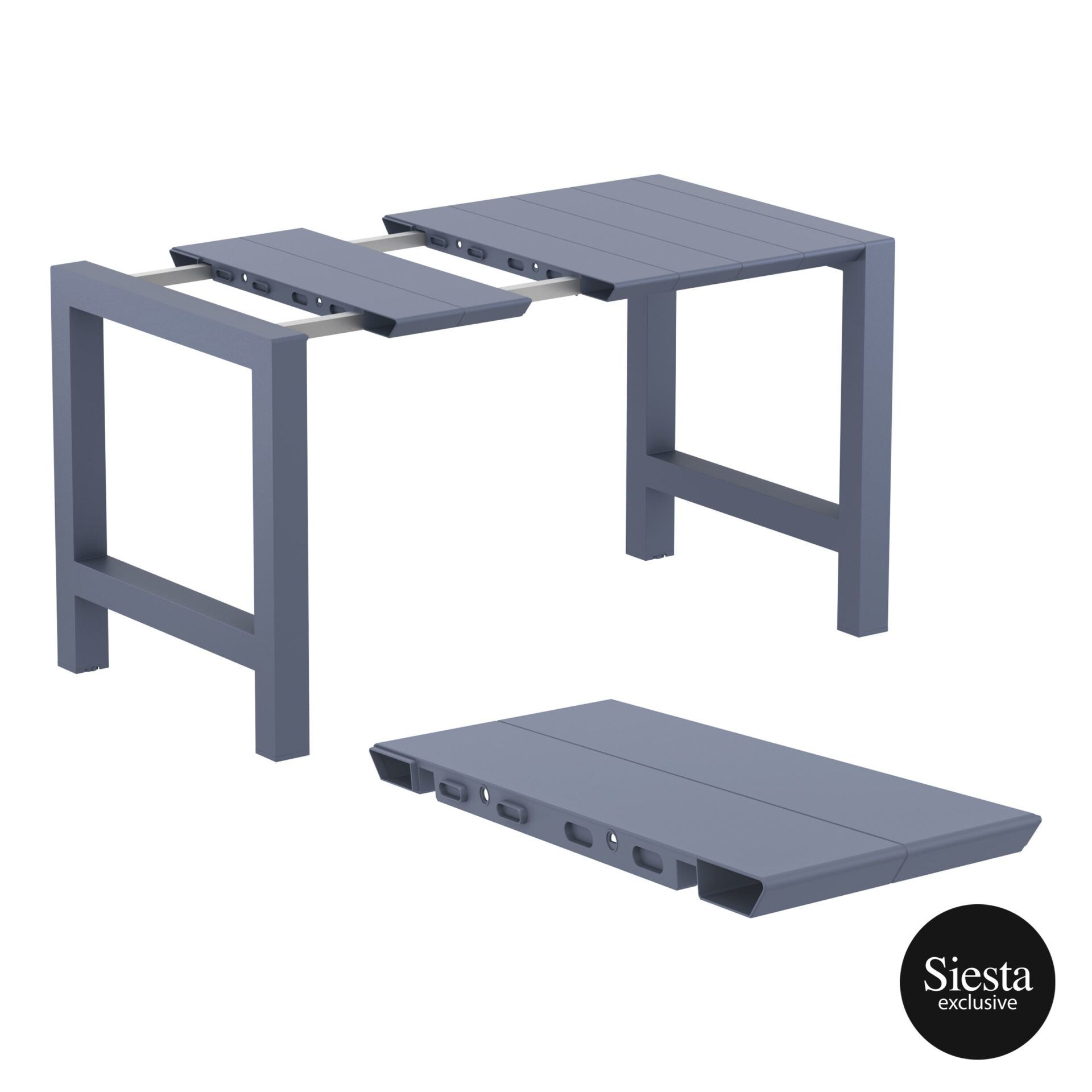 005 vegas bar table 140 darkgrey extension part