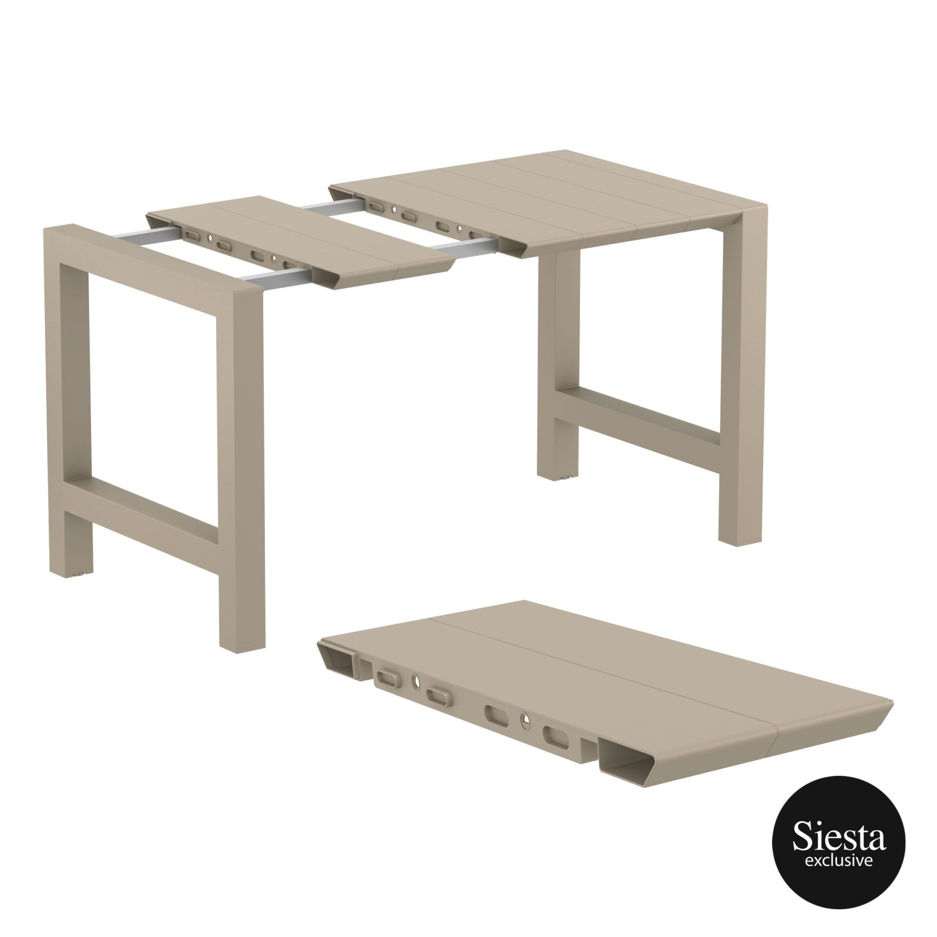 009 vegas bar table 140 taupe extension part