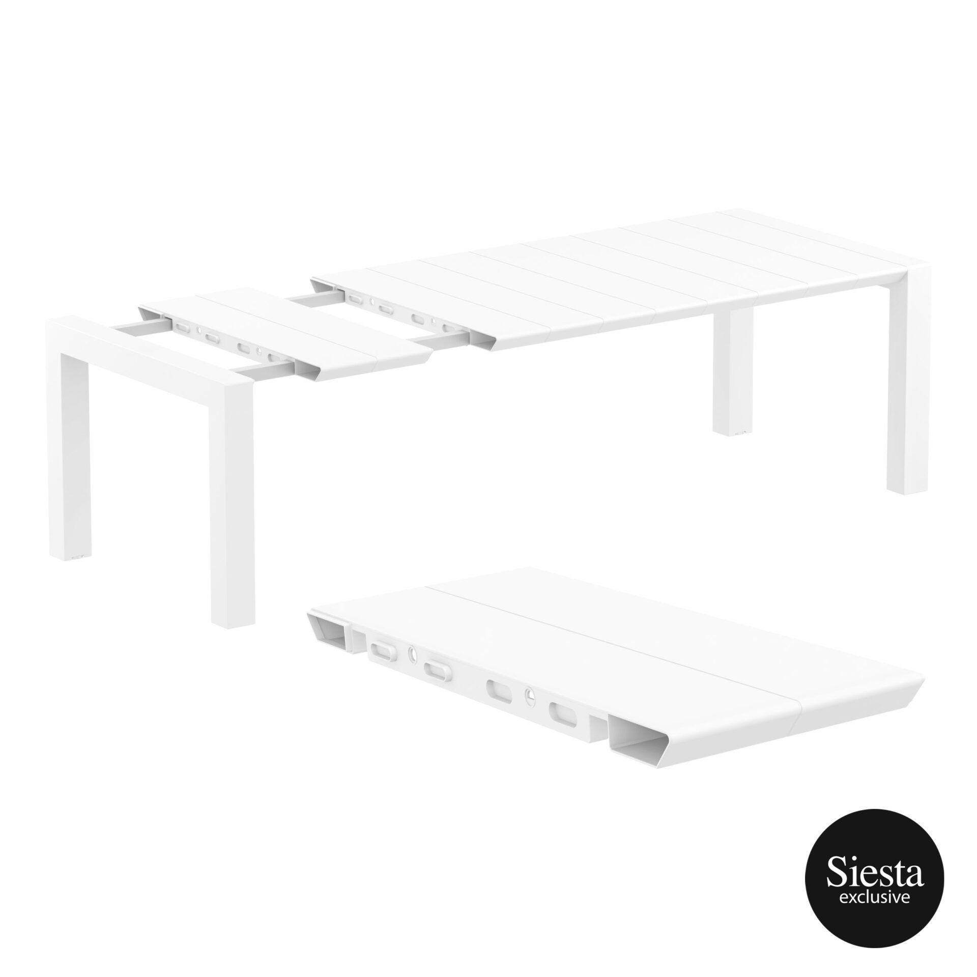 009 vegas table medium 220 white extension part