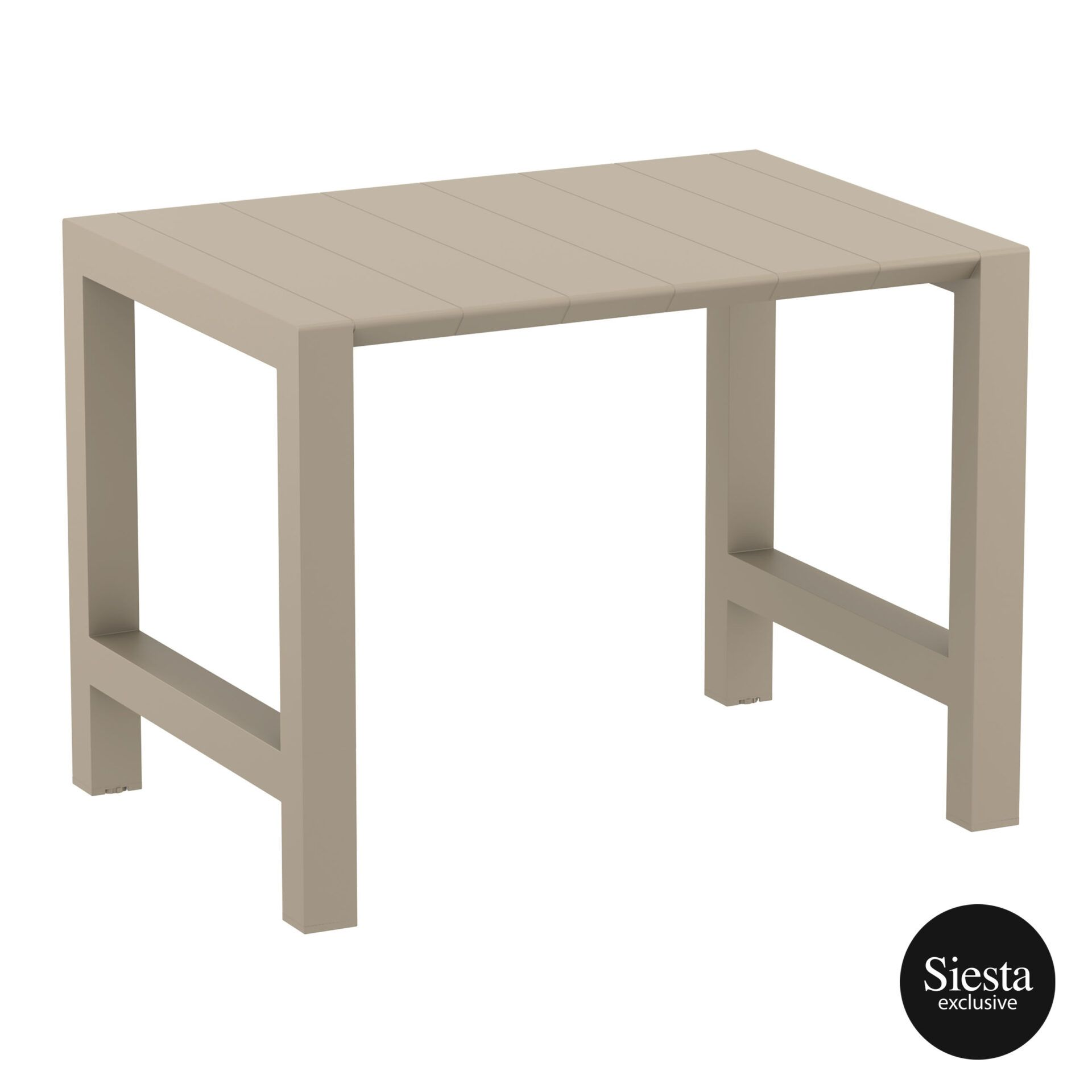 010 vegas bar table 140 taupe front side