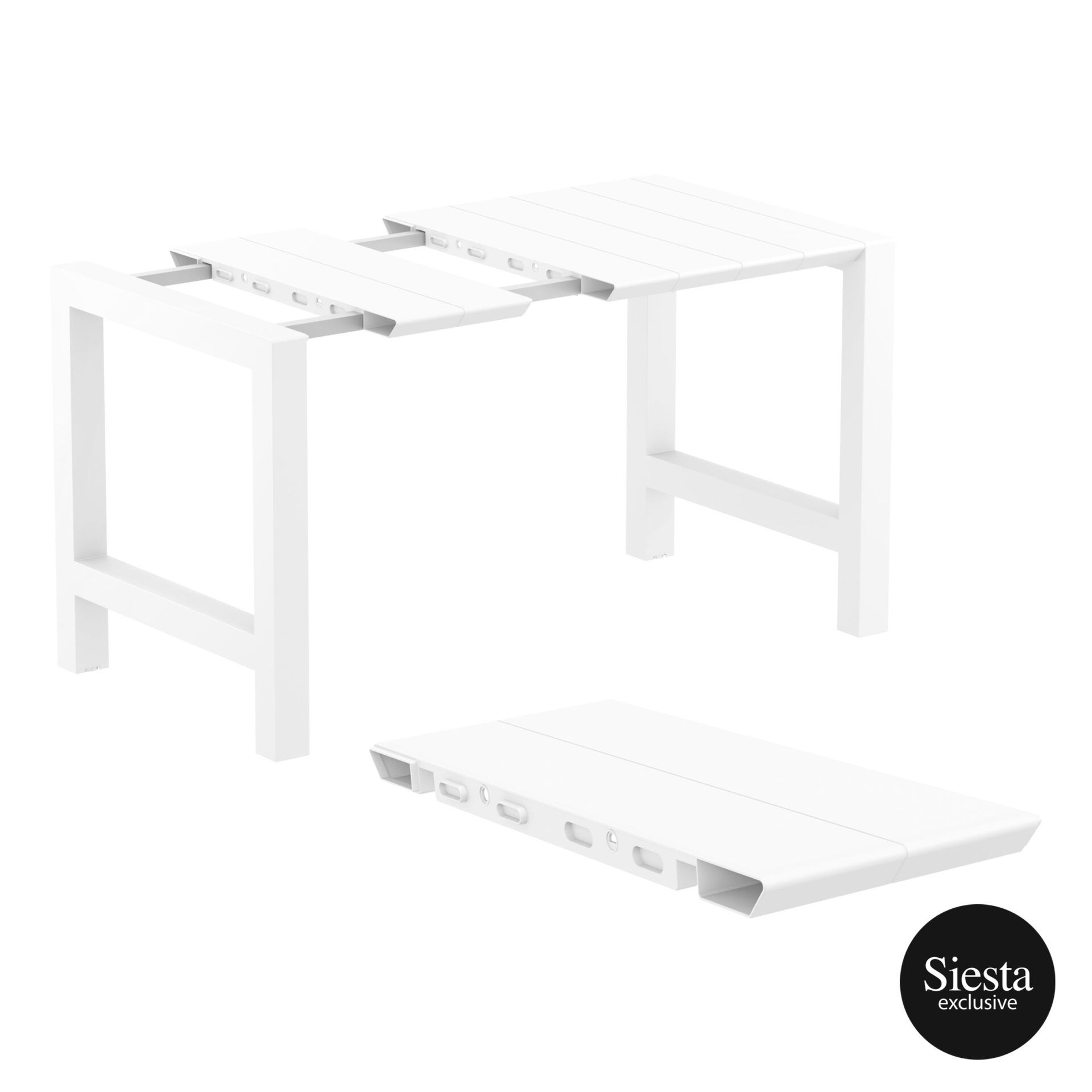 013 vegas bar table 140 white extension part