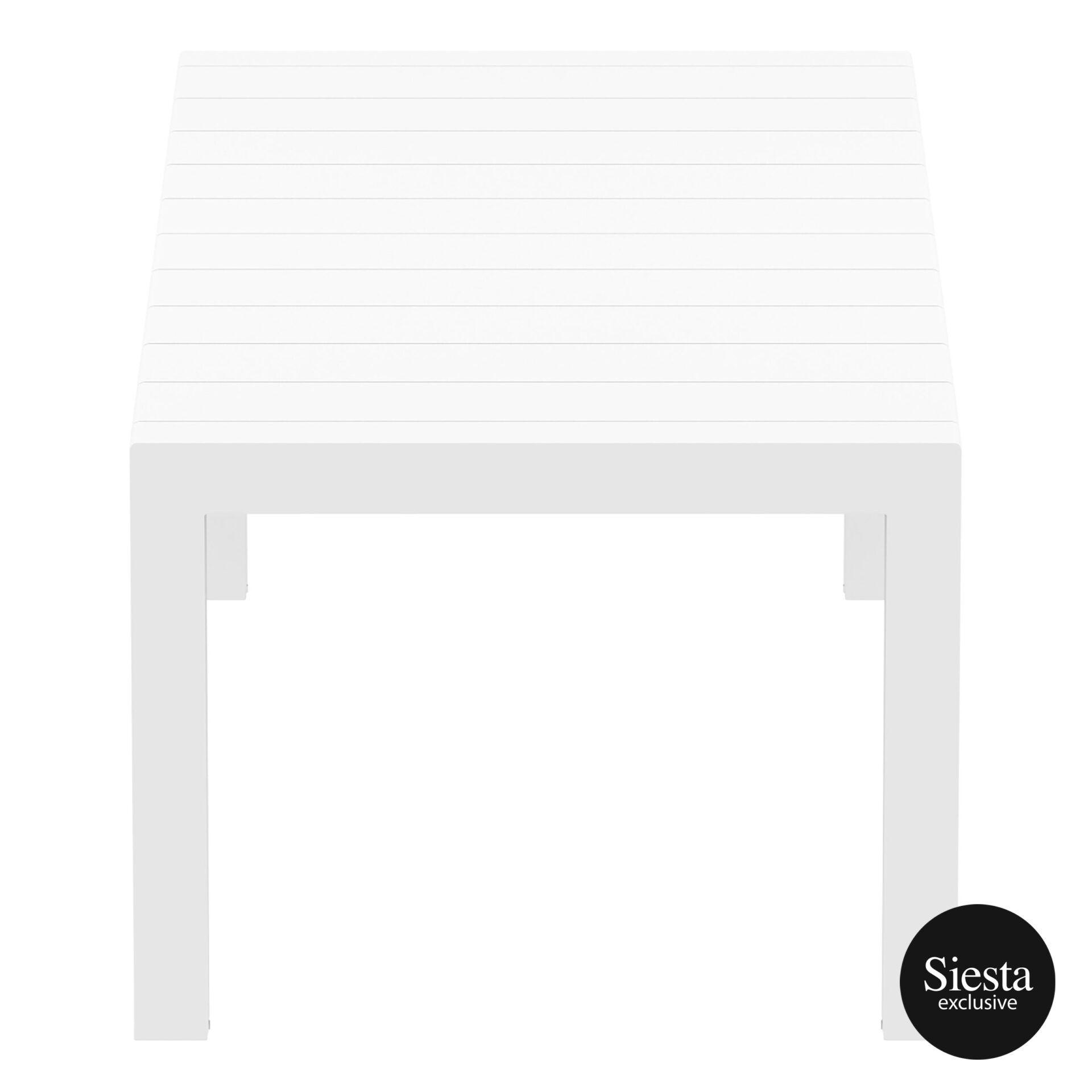 024 vegas medium table 220 white short edge
