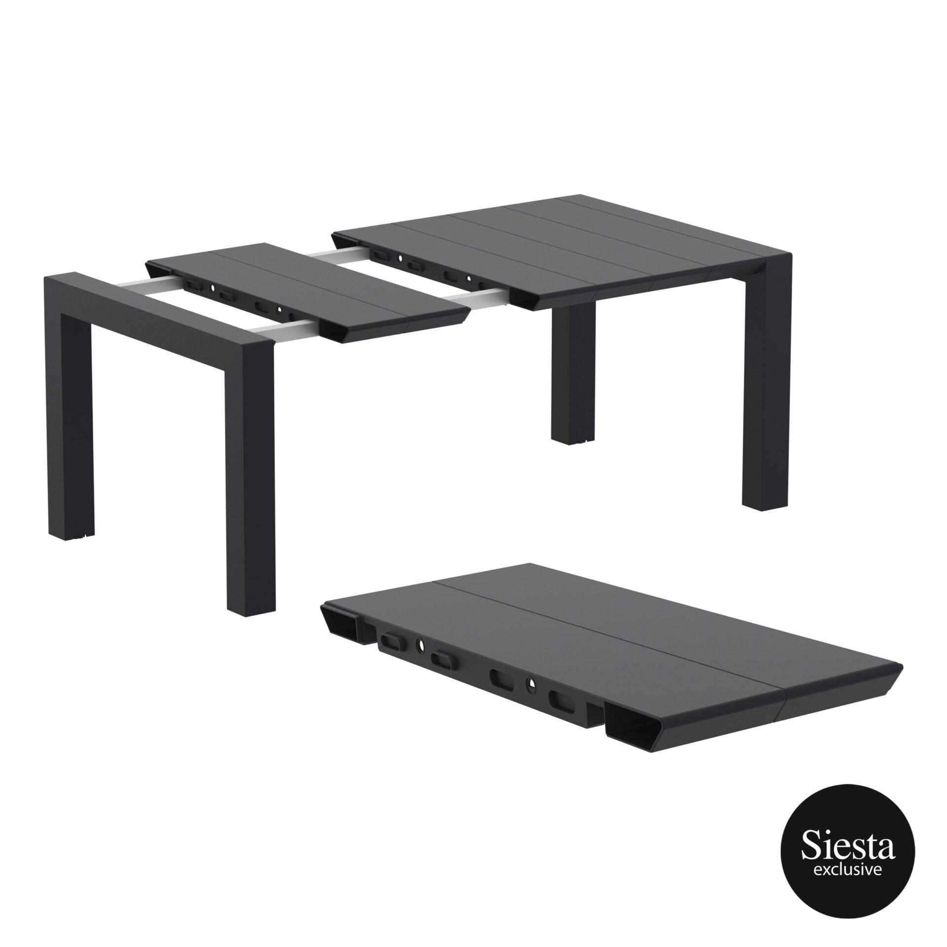 001 vegas table 140 black extension part