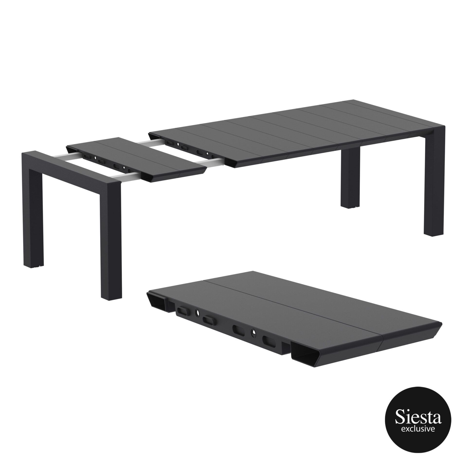 001 vegas table medium 220 black extension part