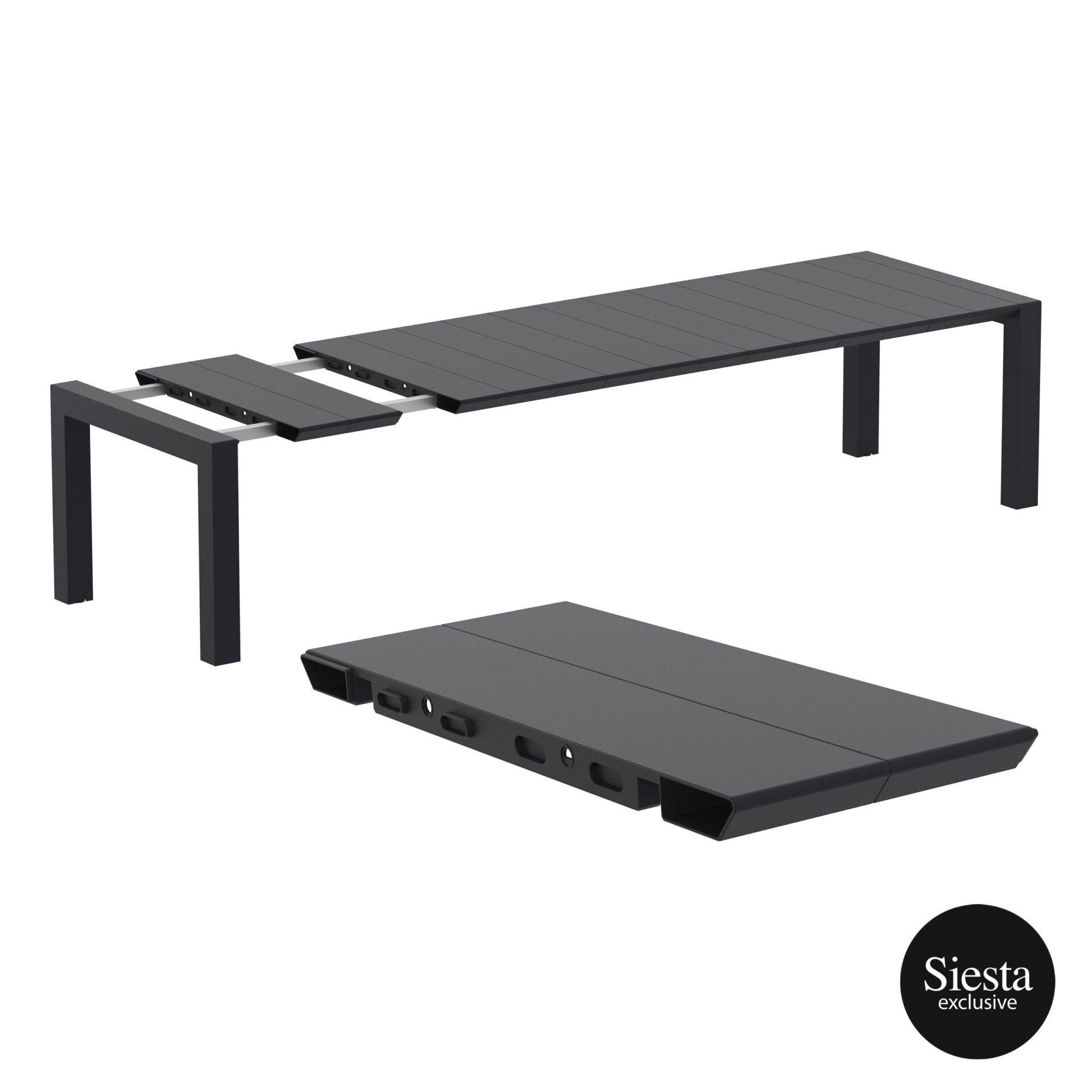 001 vegas table xl 300 black extension part