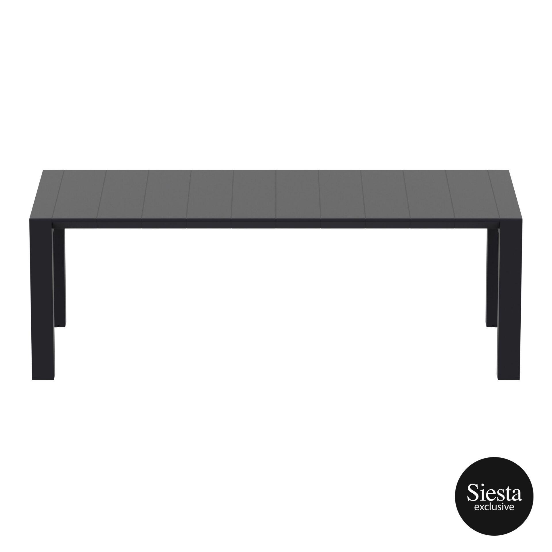 003 vegas table medium 220 black long edge