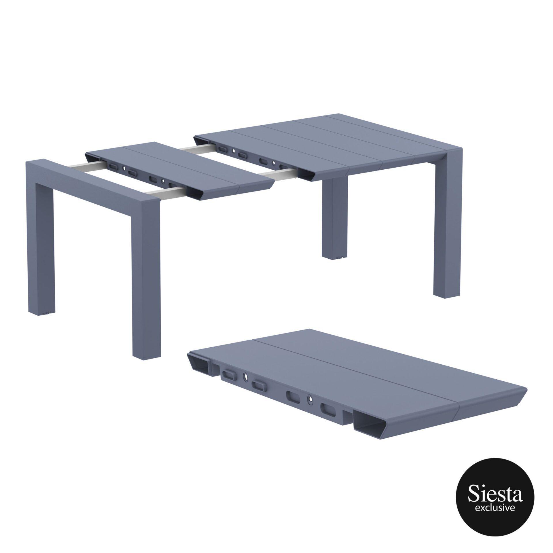 005 vegas table 140 darkgrey extension part