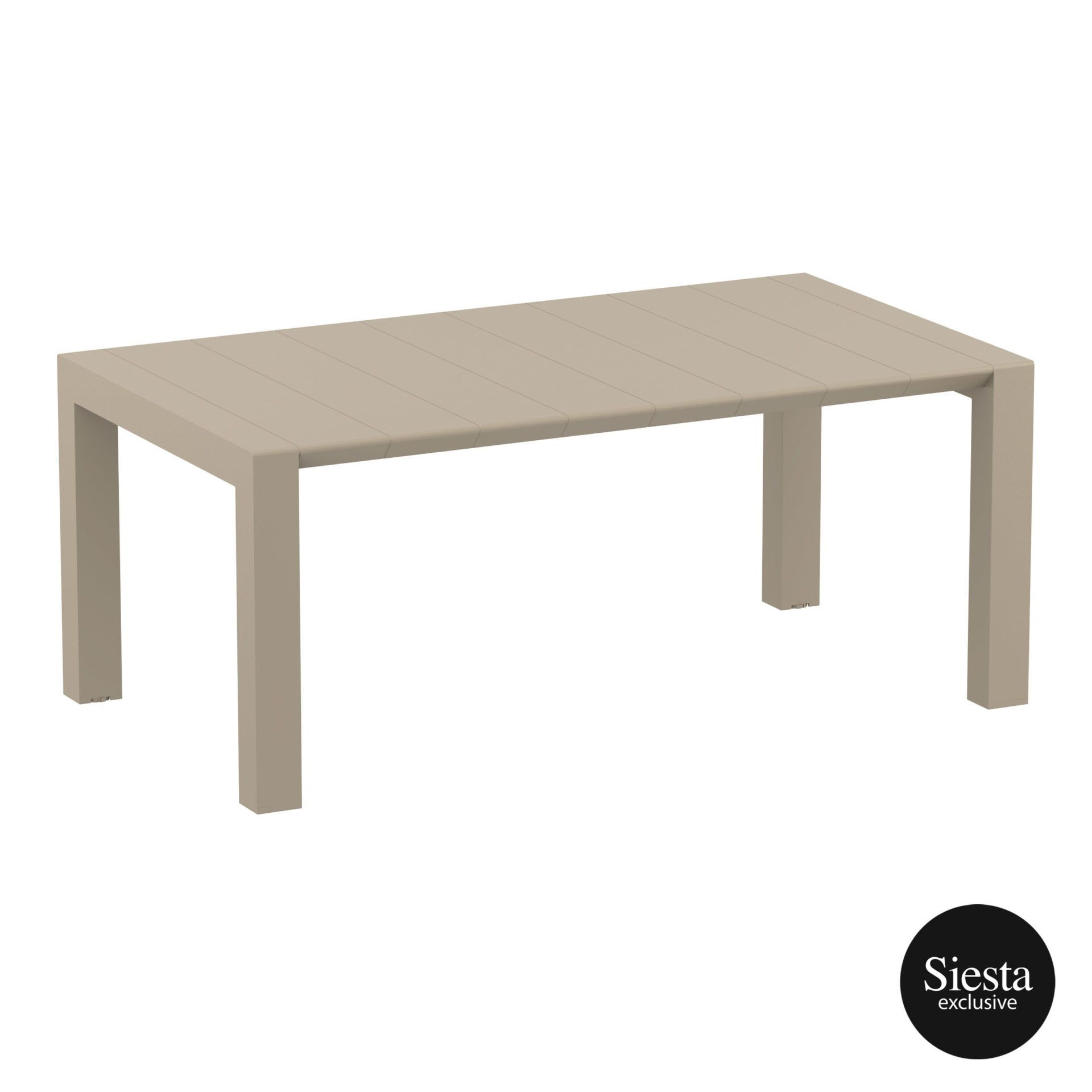 007 vegas table medium 180 taupe front side