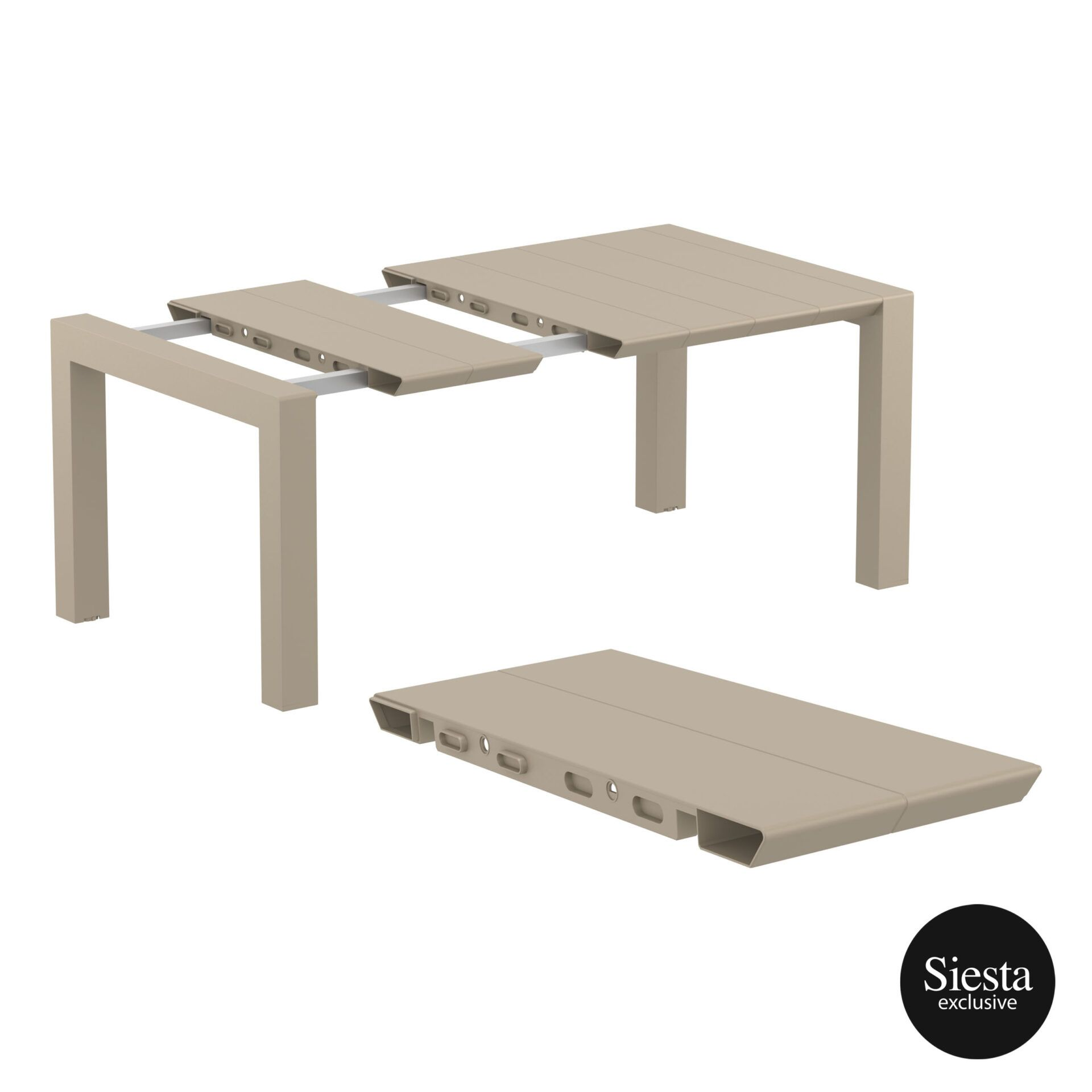 009 vegas table 140 taupe extension part