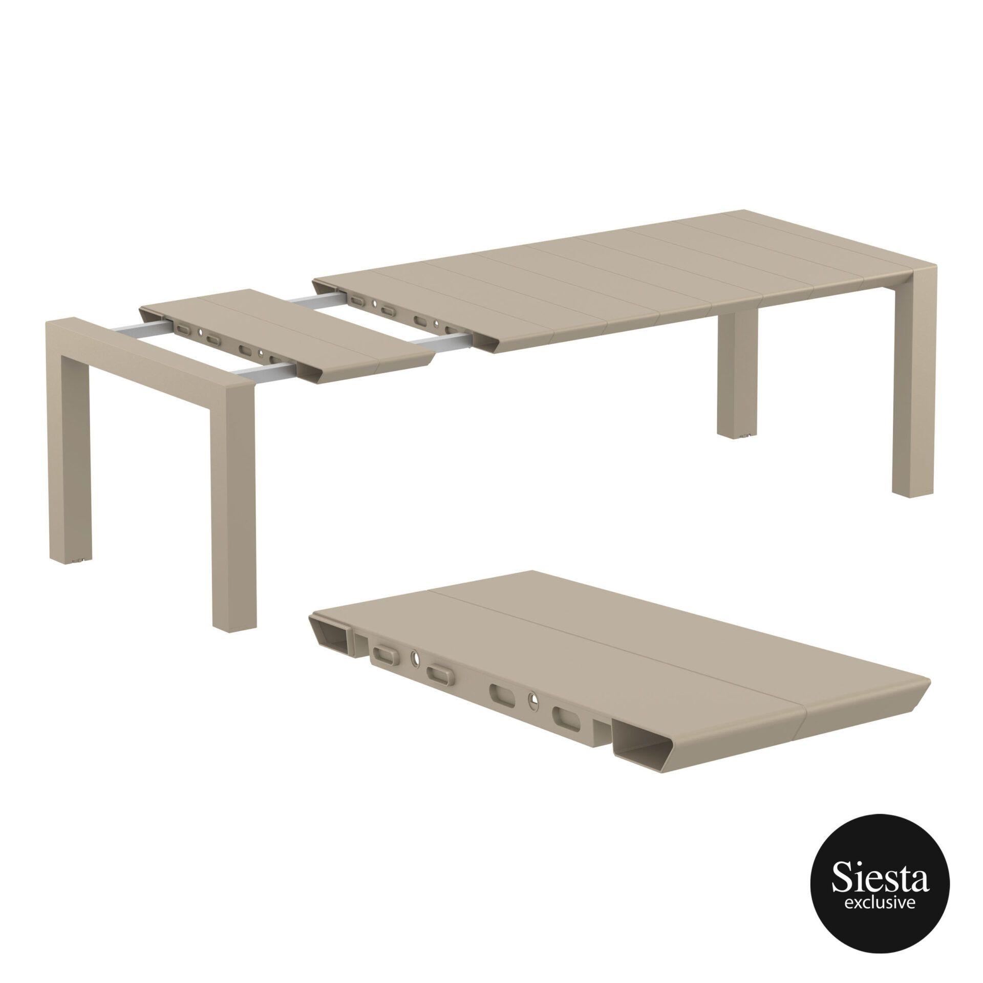 009 vegas table medium 220 taupe extension part